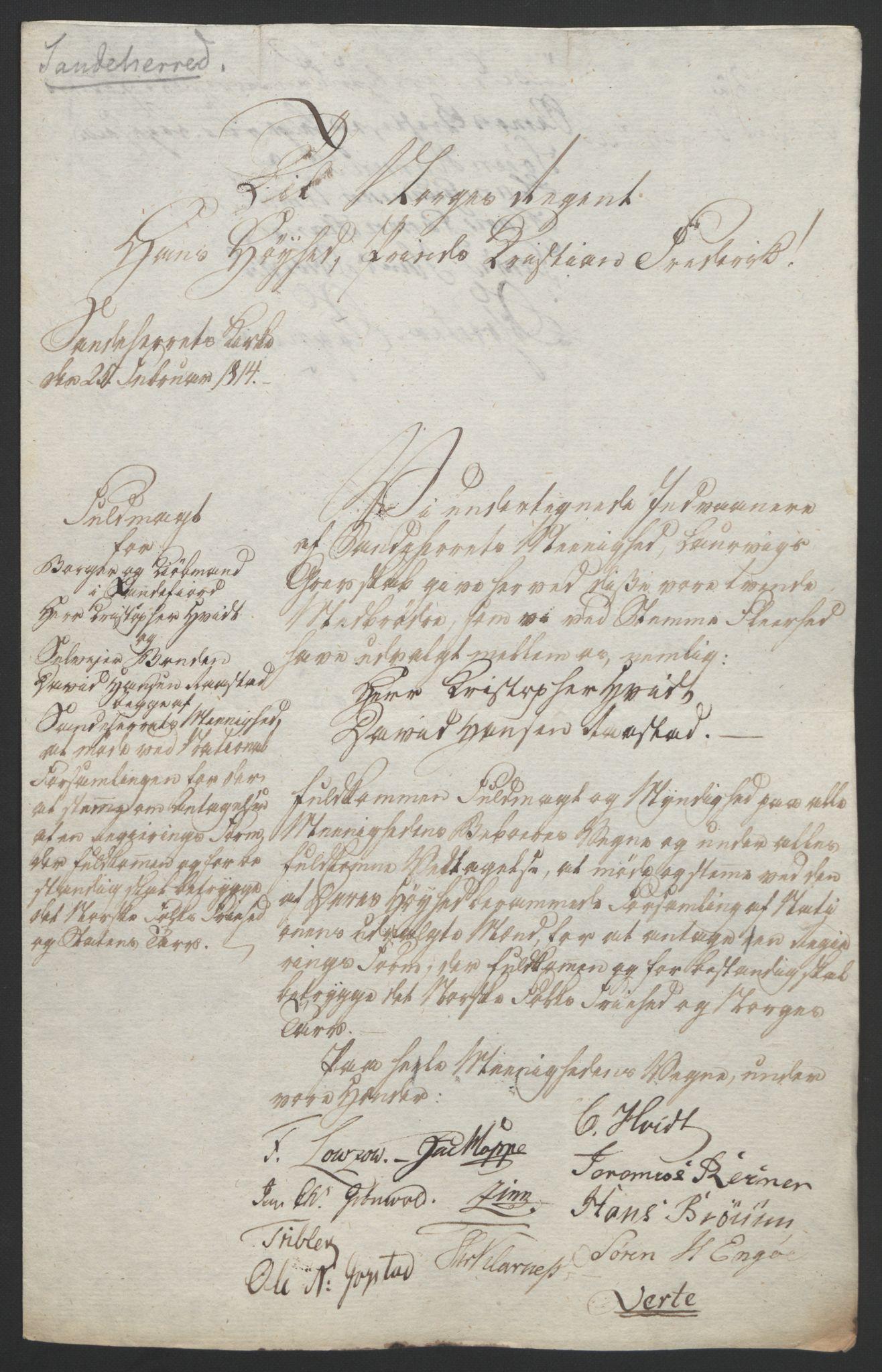 RA, Statsrådssekretariatet, D/Db/L0008: Fullmakter for Eidsvollsrepresentantene i 1814. , 1814, s. 34