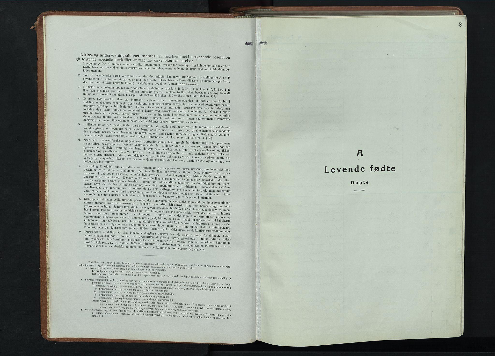 SAH, Fåberg prestekontor, Klokkerbok nr. 14, 1922-1946, s. 3