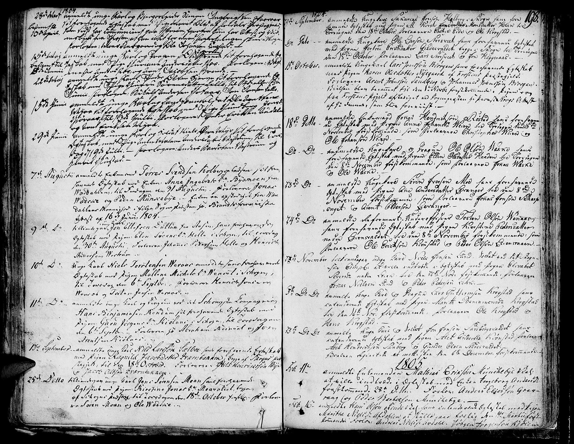 SAT, Ministerialprotokoller, klokkerbøker og fødselsregistre - Nord-Trøndelag, 717/L0142: Ministerialbok nr. 717A02 /1, 1783-1809, s. 198