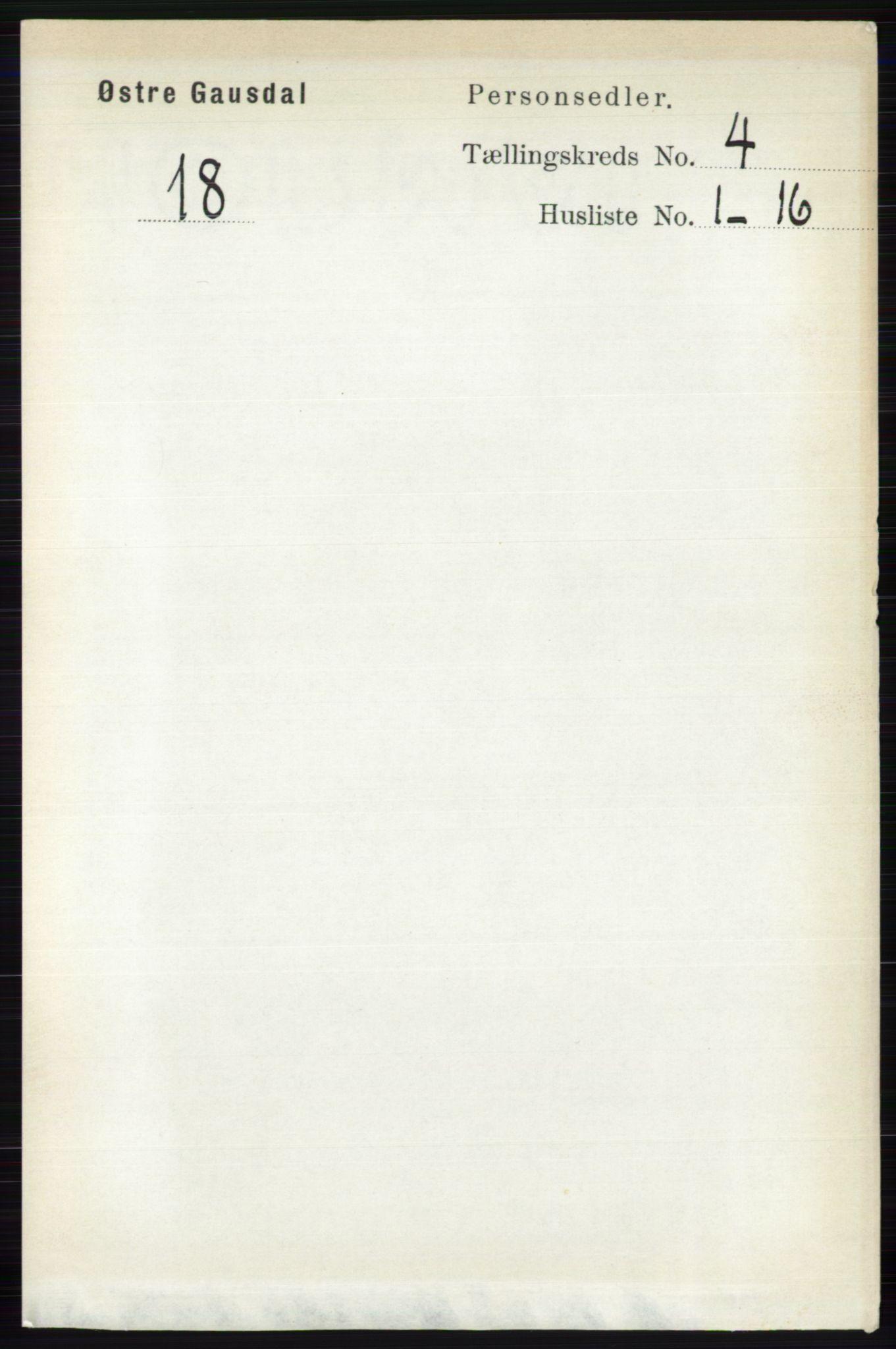 RA, Folketelling 1891 for 0522 Østre Gausdal herred, 1891, s. 2446