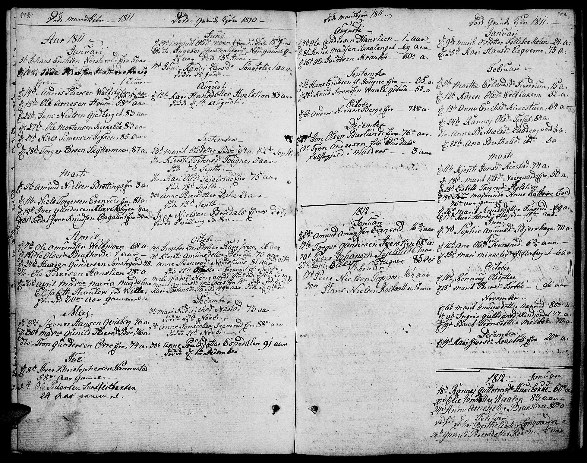 SAH, Gausdal prestekontor, Ministerialbok nr. 4, 1809-1817, s. 502-503