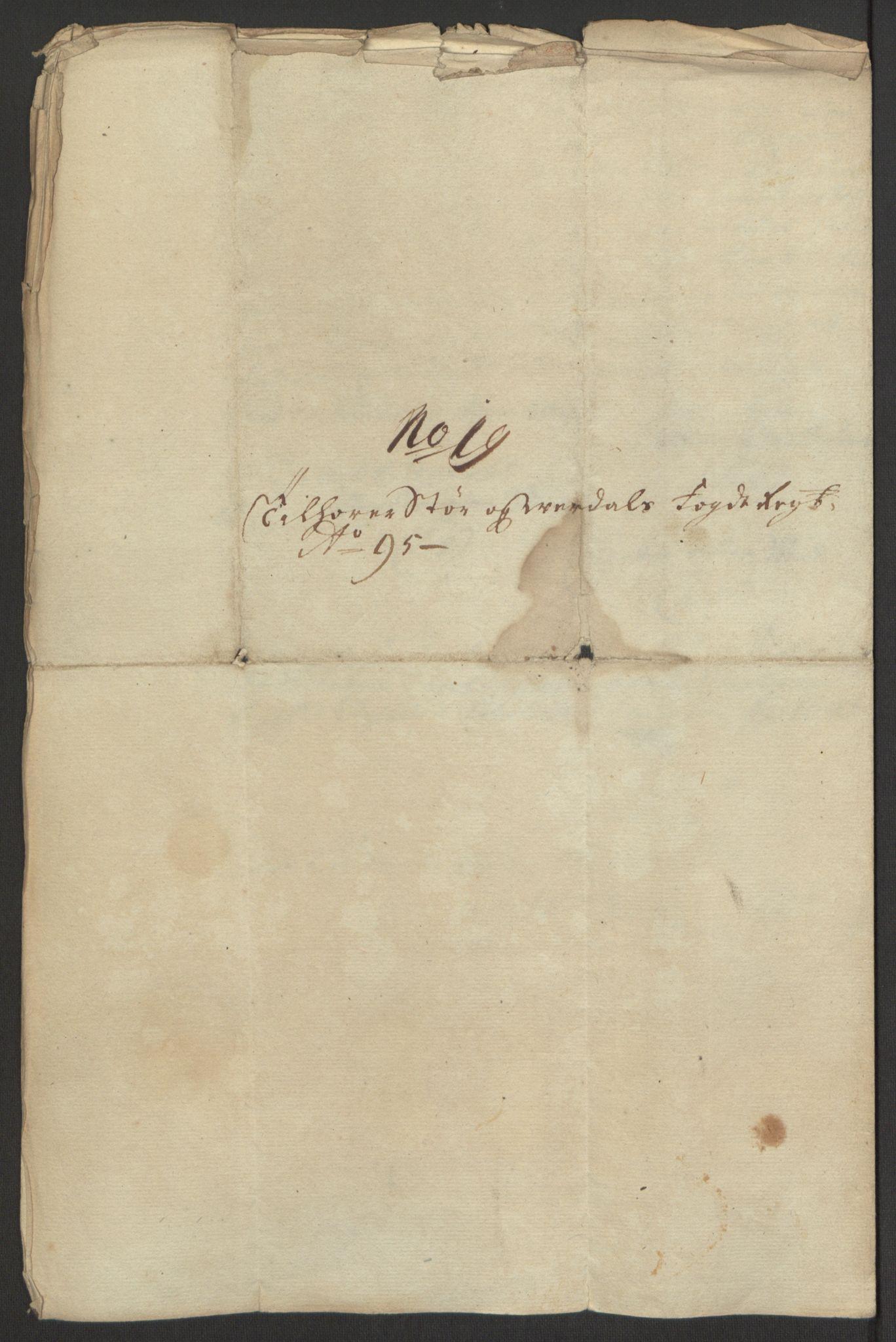 RA, Rentekammeret inntil 1814, Reviderte regnskaper, Fogderegnskap, R62/L4187: Fogderegnskap Stjørdal og Verdal, 1695, s. 221