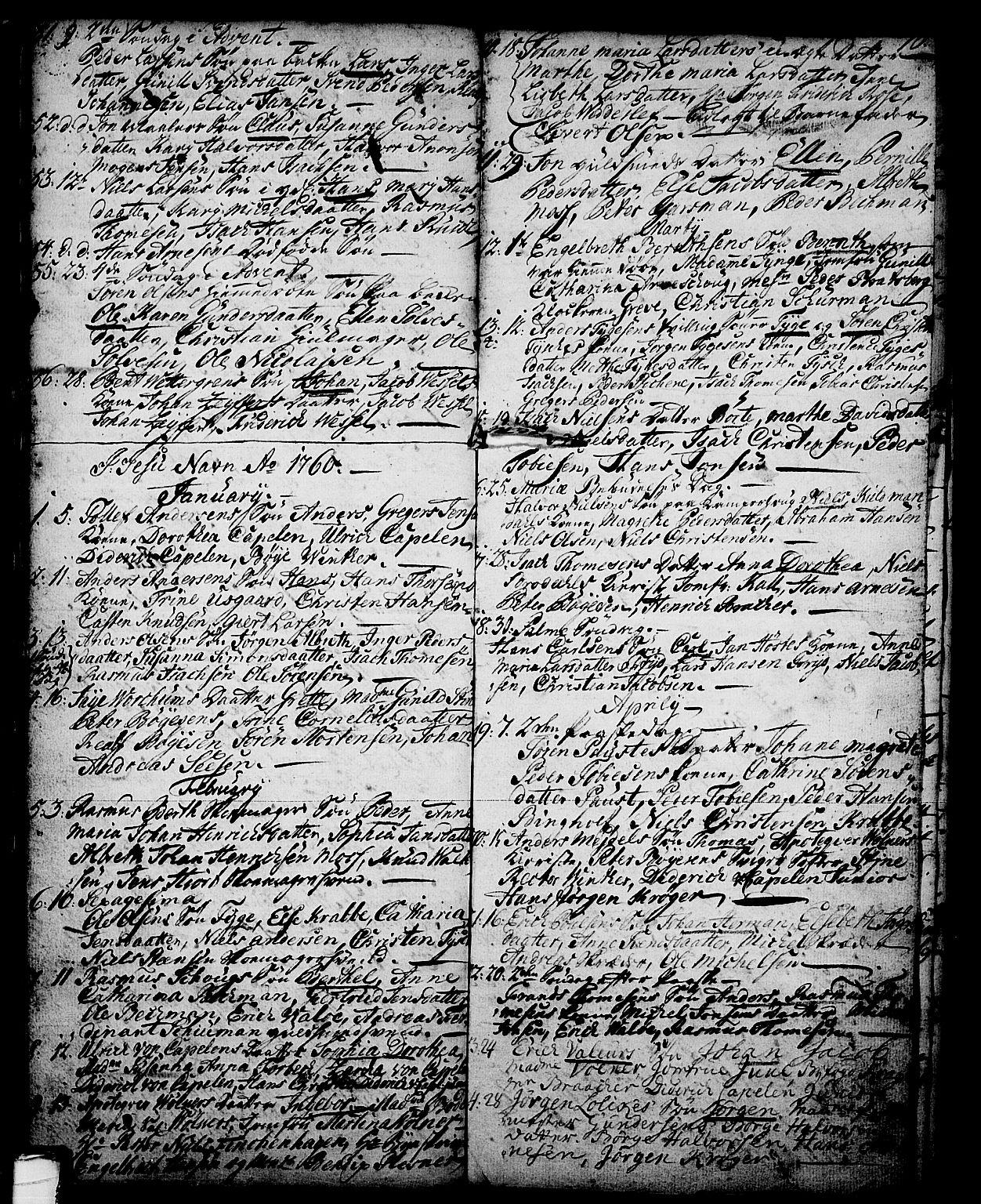 SAKO, Skien kirkebøker, G/Ga/L0001: Klokkerbok nr. 1, 1756-1791, s. 70