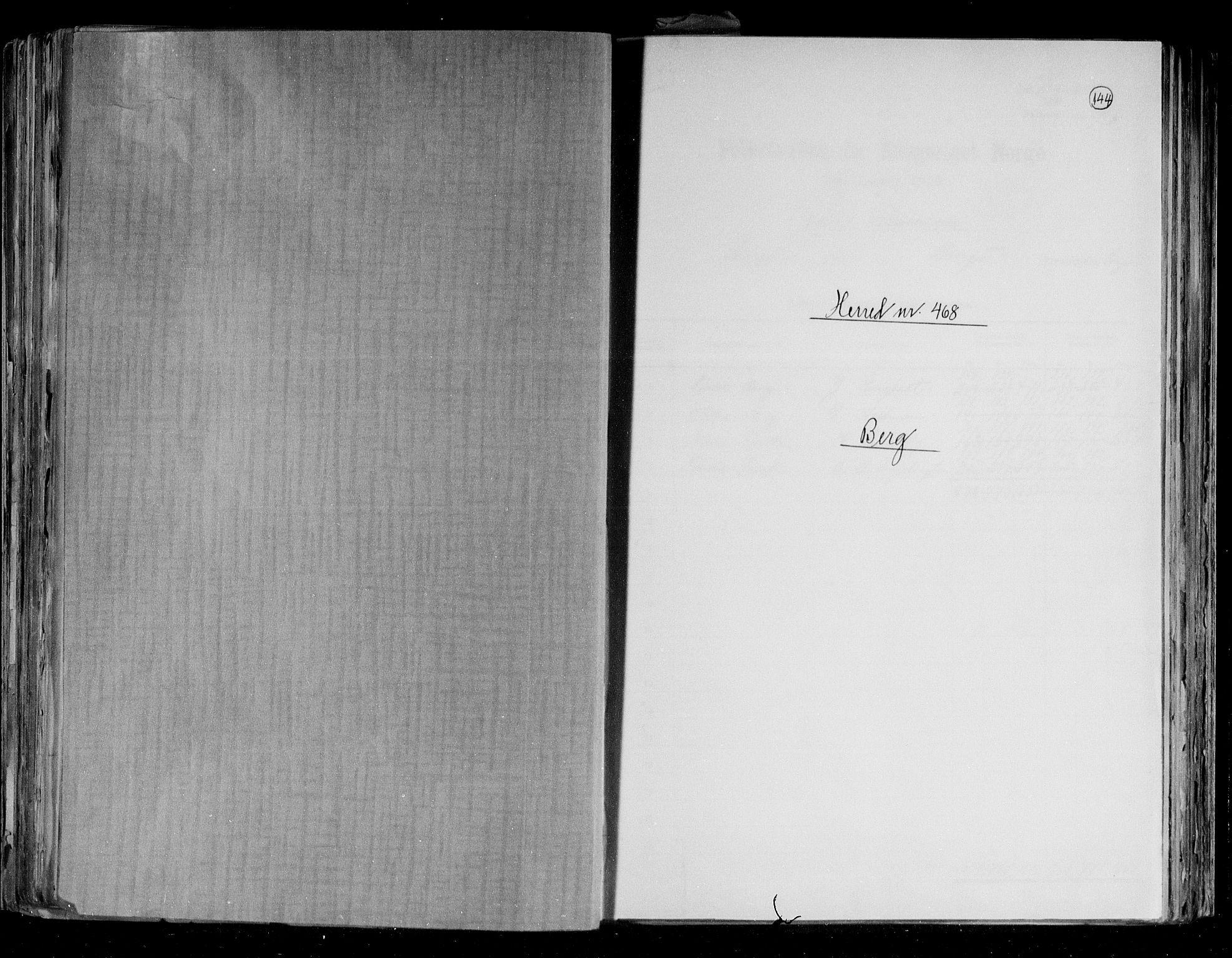 RA, Folketelling 1891 for 1929 Berg herred, 1891, s. 1
