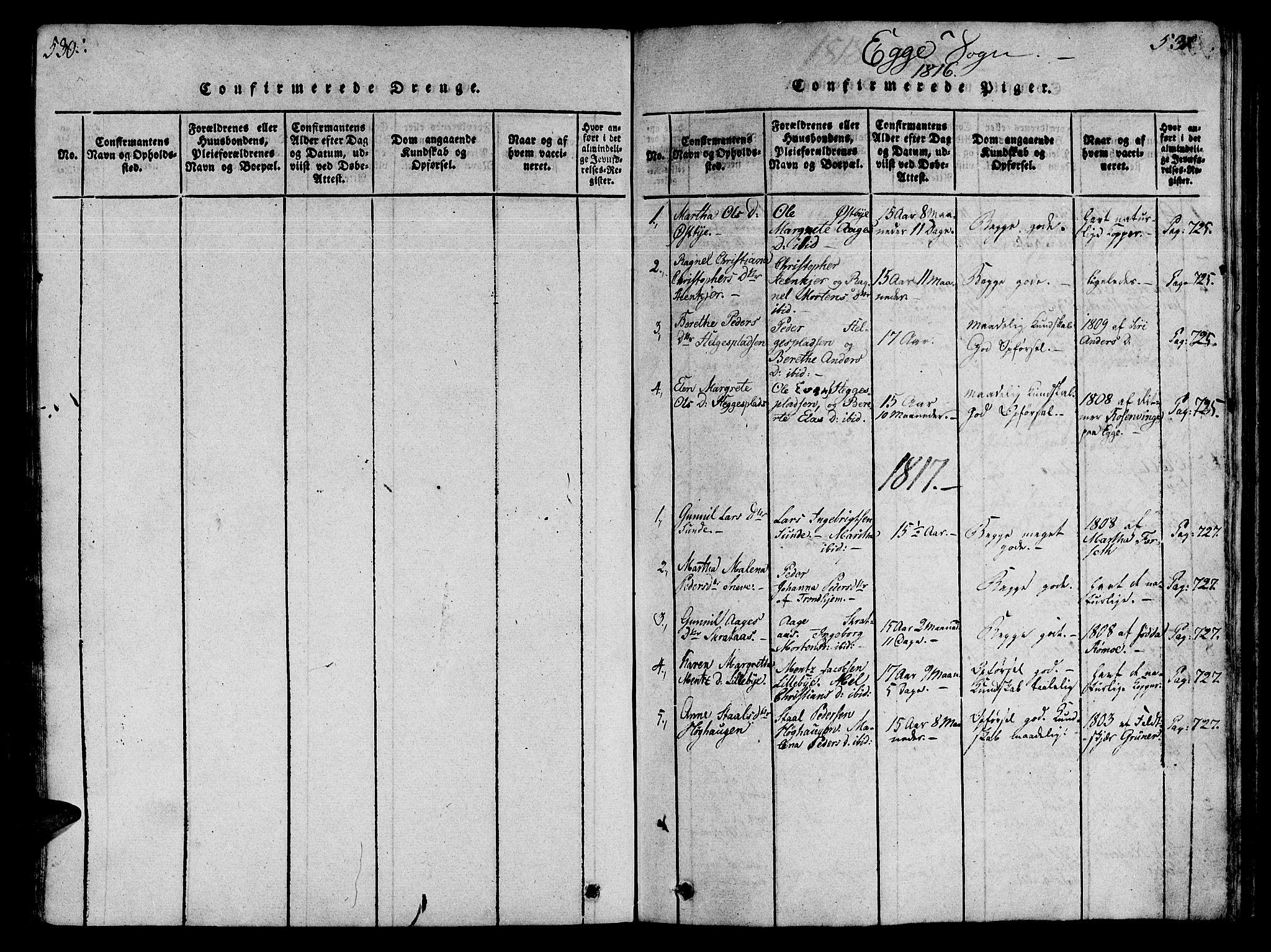 SAT, Ministerialprotokoller, klokkerbøker og fødselsregistre - Nord-Trøndelag, 746/L0441: Ministerialbok nr. 736A03 /3, 1816-1827, s. 530-531