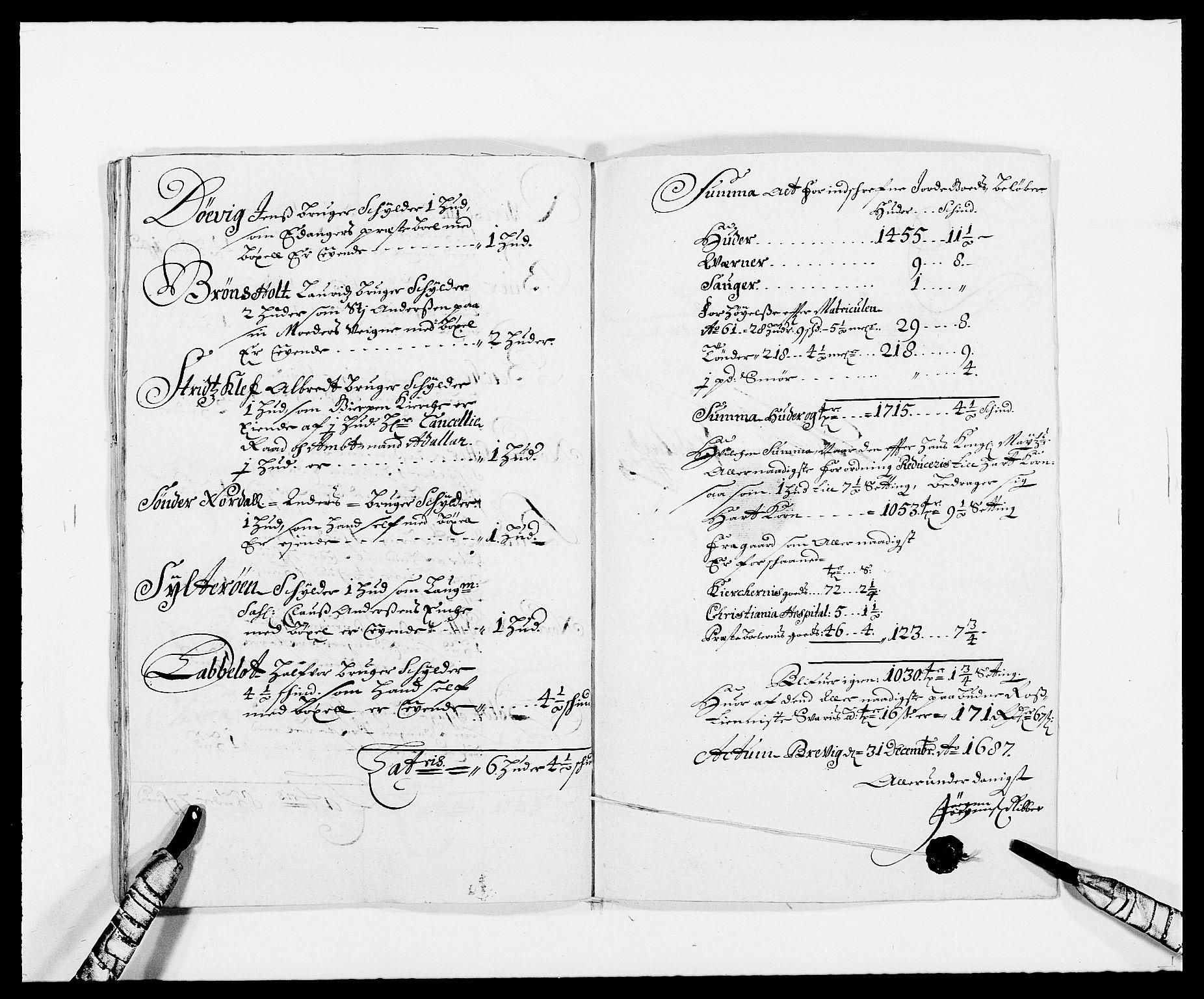 RA, Rentekammeret inntil 1814, Reviderte regnskaper, Fogderegnskap, R34/L2049: Fogderegnskap Bamble, 1685-1687, s. 358