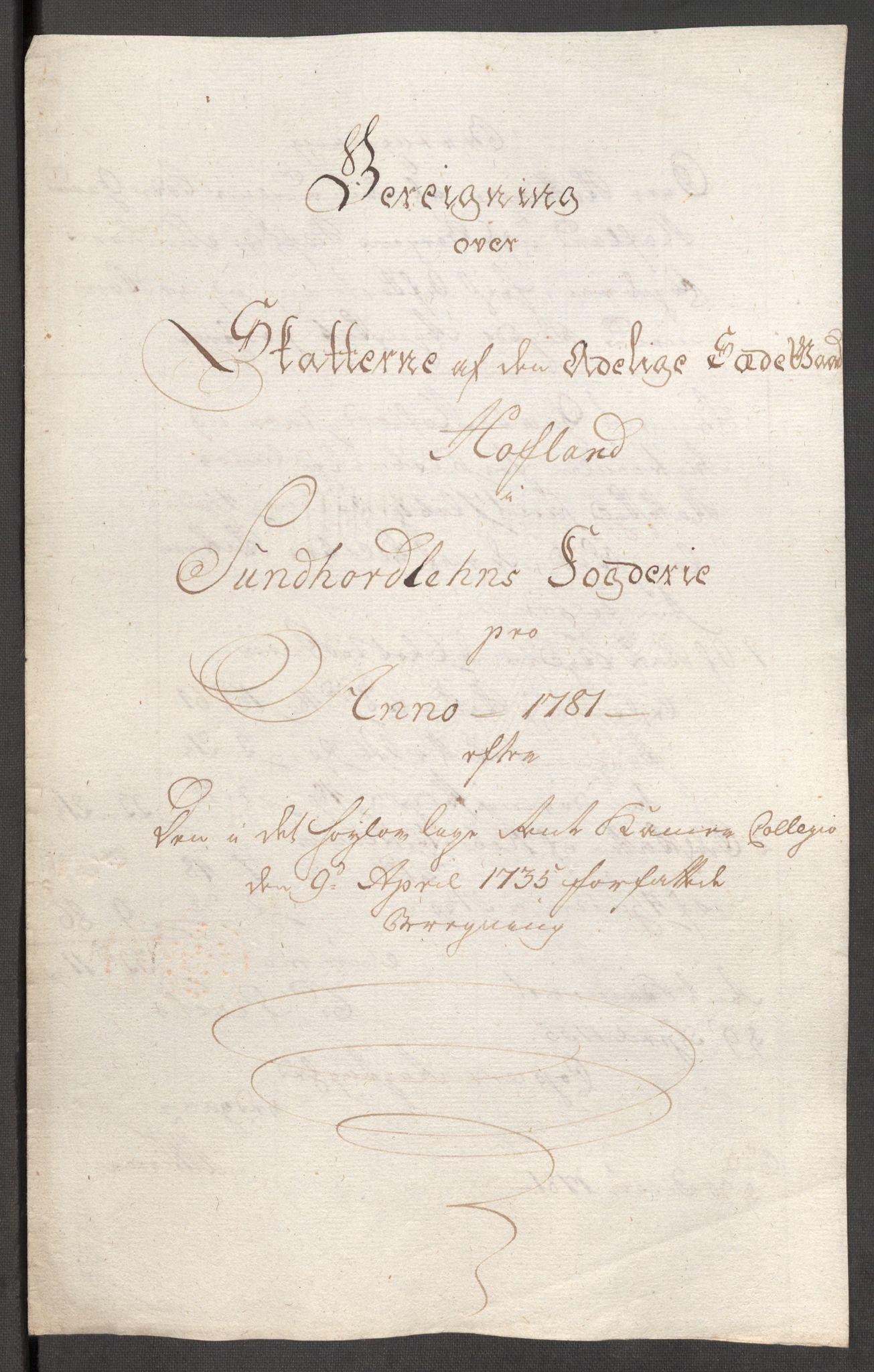 RA, Rentekammeret inntil 1814, Reviderte regnskaper, Fogderegnskap, R48/L3097: Fogderegnskap Sunnhordland og Hardanger, 1781, s. 314