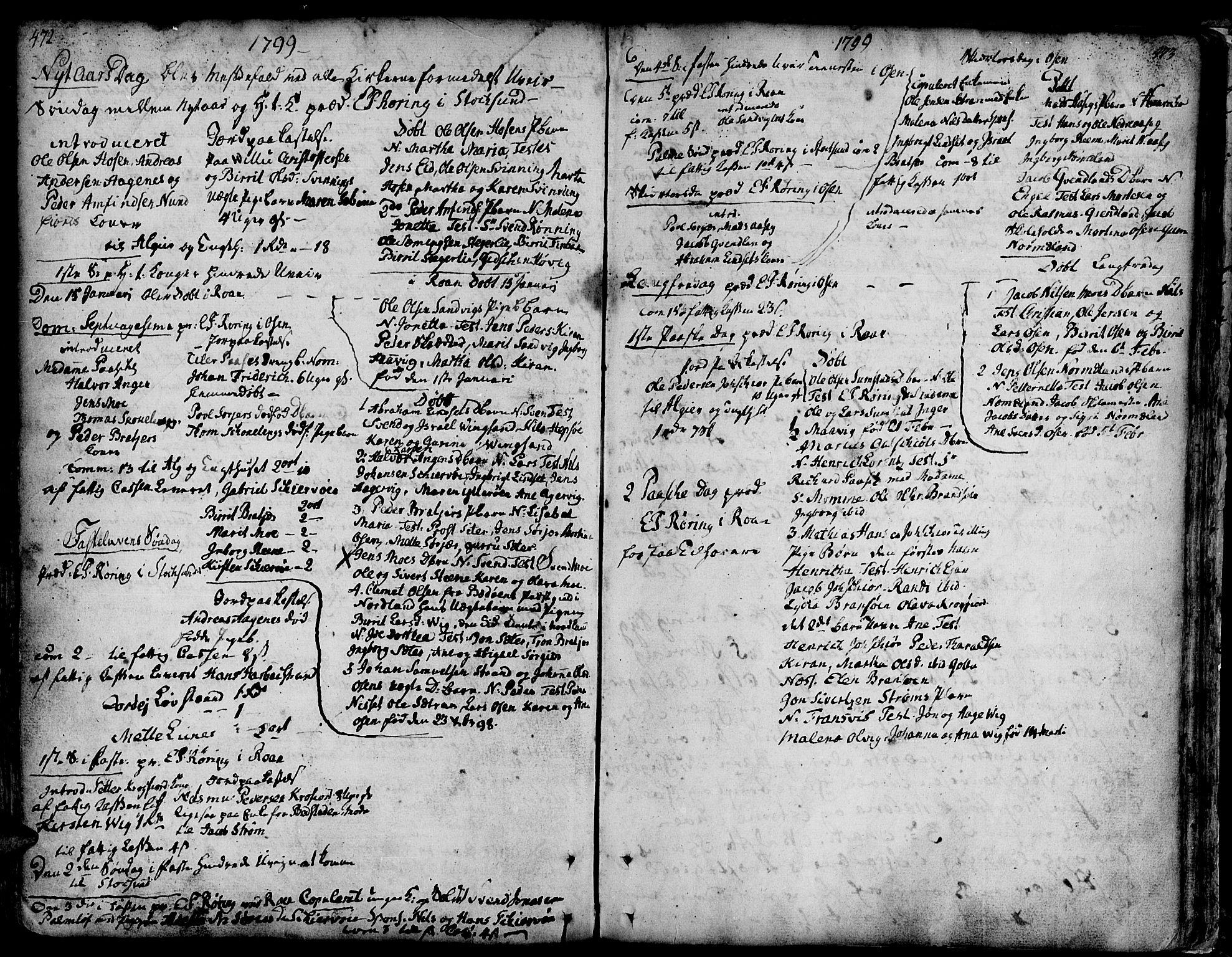 SAT, Ministerialprotokoller, klokkerbøker og fødselsregistre - Sør-Trøndelag, 657/L0700: Ministerialbok nr. 657A01, 1732-1801, s. 472-473