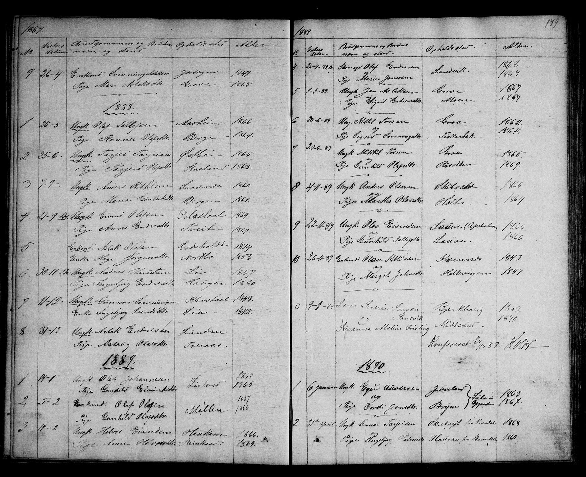 SAKO, Kviteseid kirkebøker, G/Ga/L0001: Klokkerbok nr. I 1, 1850-1893, s. 179