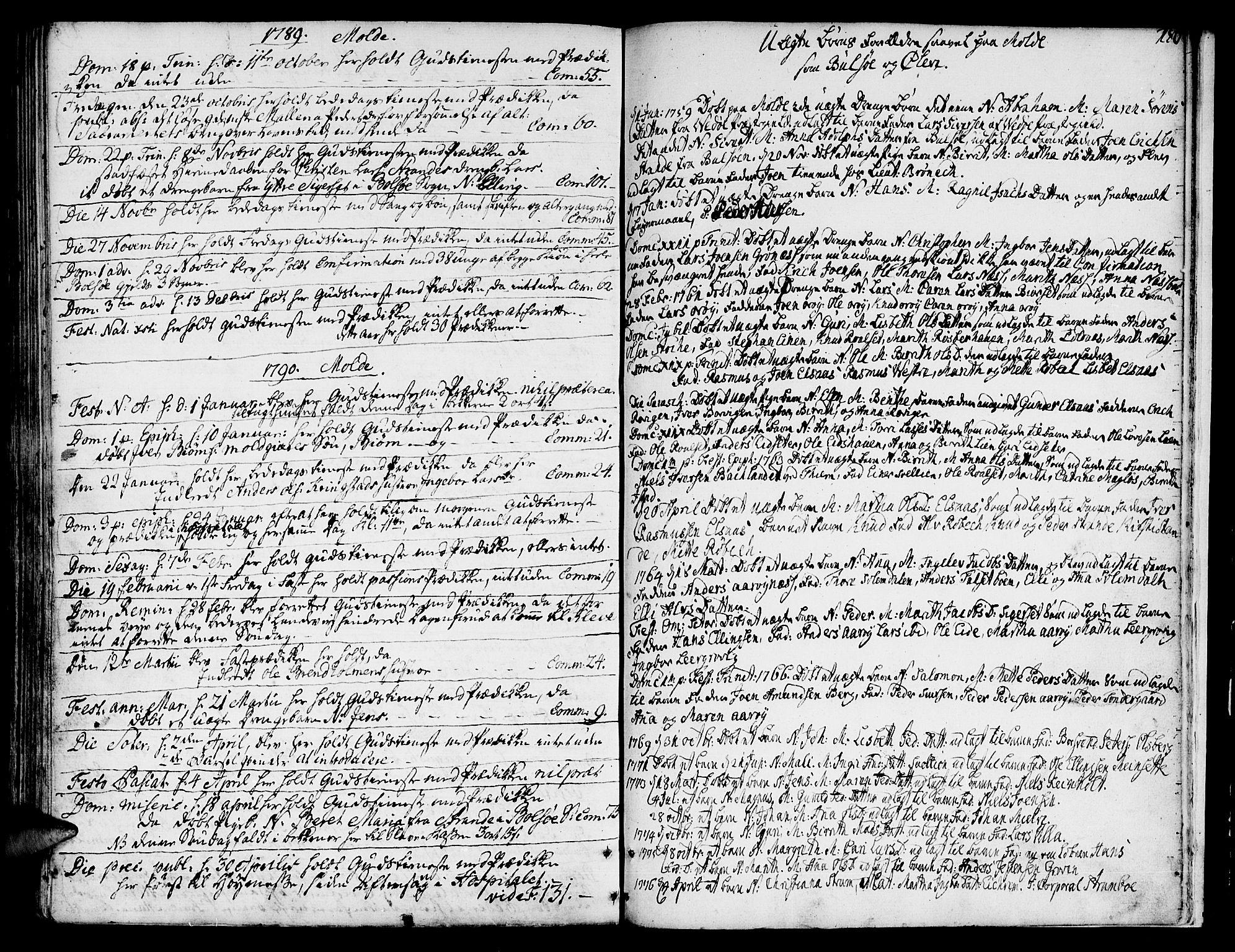 SAT, Ministerialprotokoller, klokkerbøker og fødselsregistre - Møre og Romsdal, 555/L0648: Ministerialbok nr. 555A01, 1759-1793, s. 180