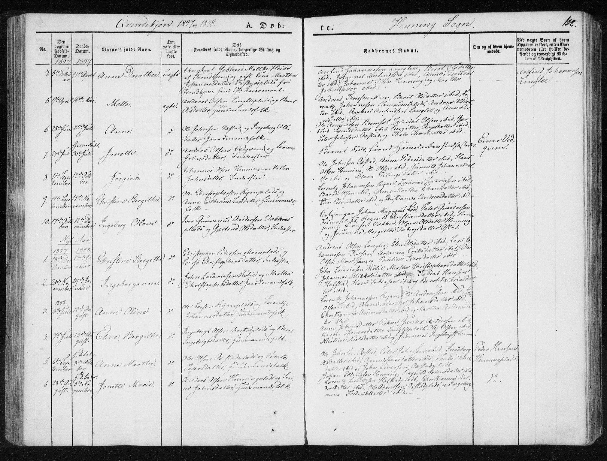 SAT, Ministerialprotokoller, klokkerbøker og fødselsregistre - Nord-Trøndelag, 735/L0339: Ministerialbok nr. 735A06 /3, 1836-1848, s. 132