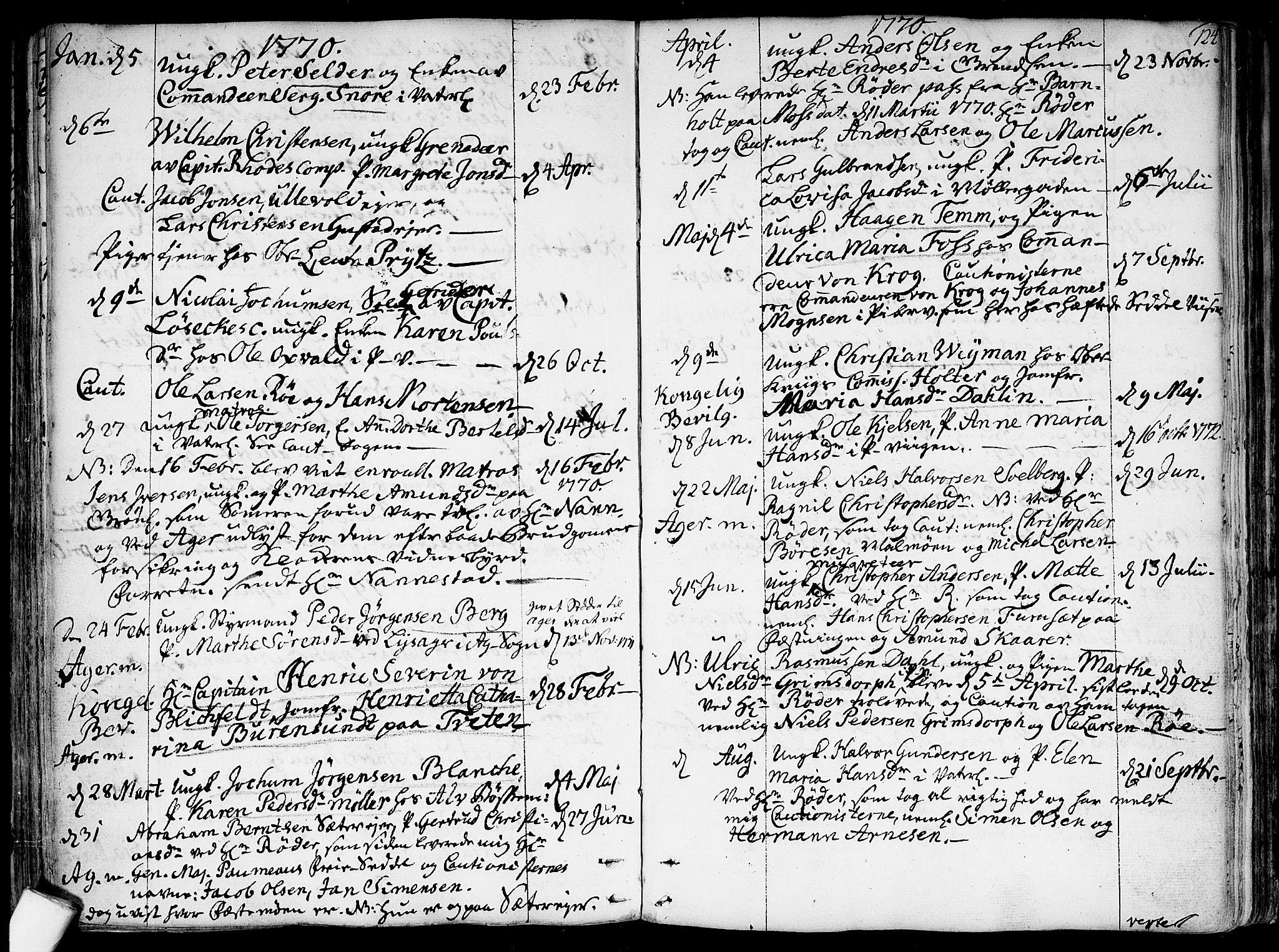SAO, Garnisonsmenigheten Kirkebøker, F/Fa/L0002: Ministerialbok nr. 2, 1757-1776, s. 124