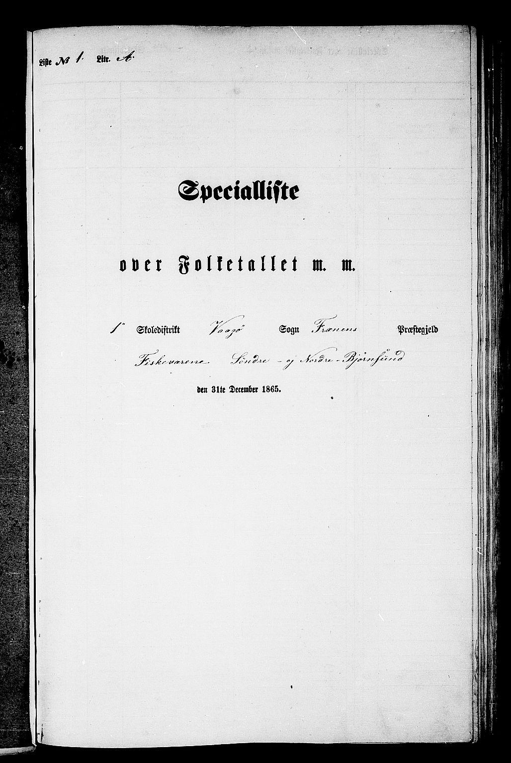 RA, Folketelling 1865 for 1548P Fræna prestegjeld, 1865, s. 6