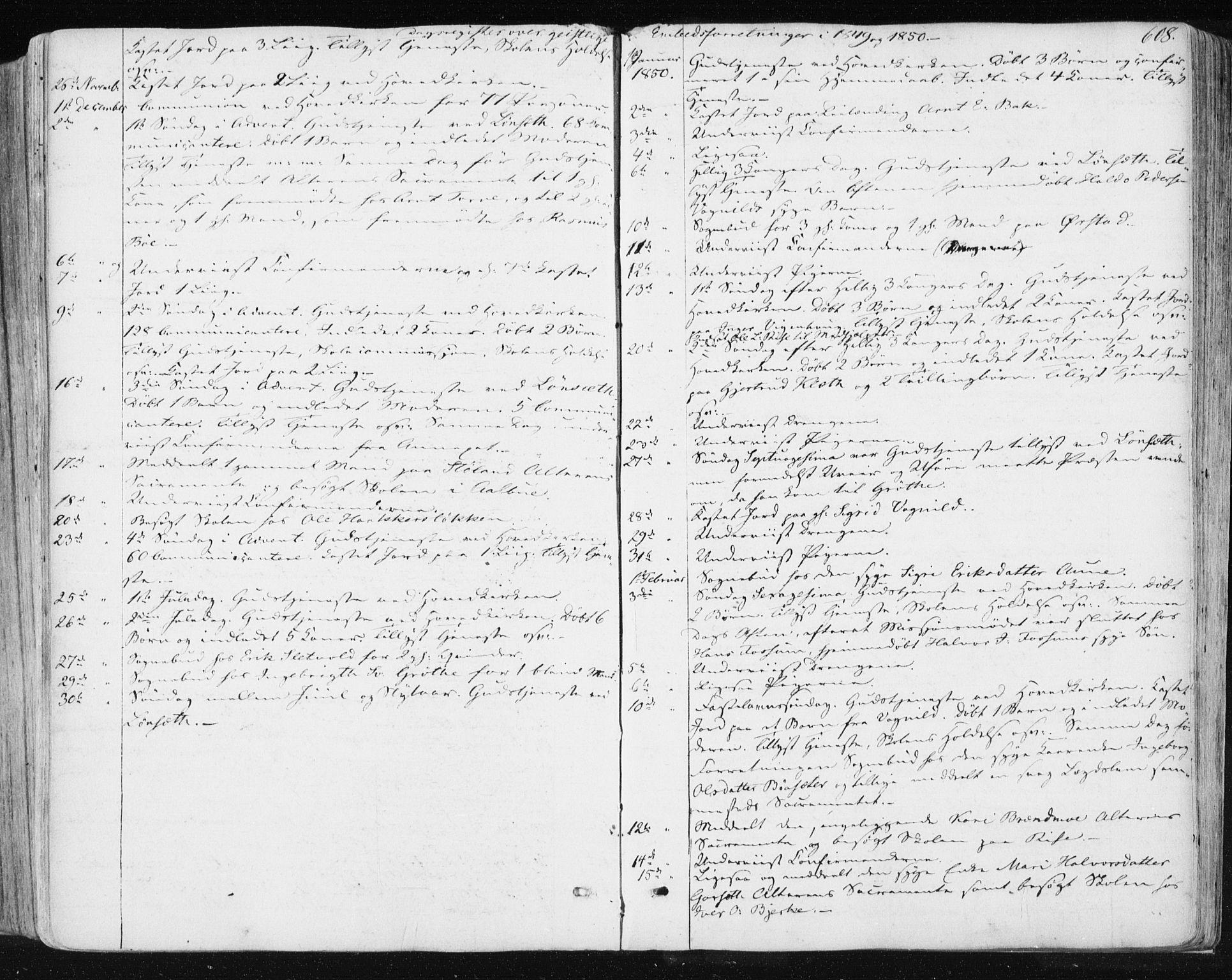 SAT, Ministerialprotokoller, klokkerbøker og fødselsregistre - Sør-Trøndelag, 678/L0899: Ministerialbok nr. 678A08, 1848-1872, s. 608
