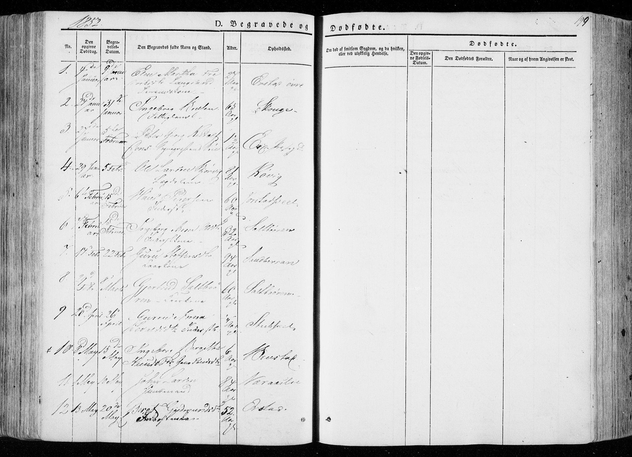 SAT, Ministerialprotokoller, klokkerbøker og fødselsregistre - Nord-Trøndelag, 722/L0218: Ministerialbok nr. 722A05, 1843-1868, s. 199