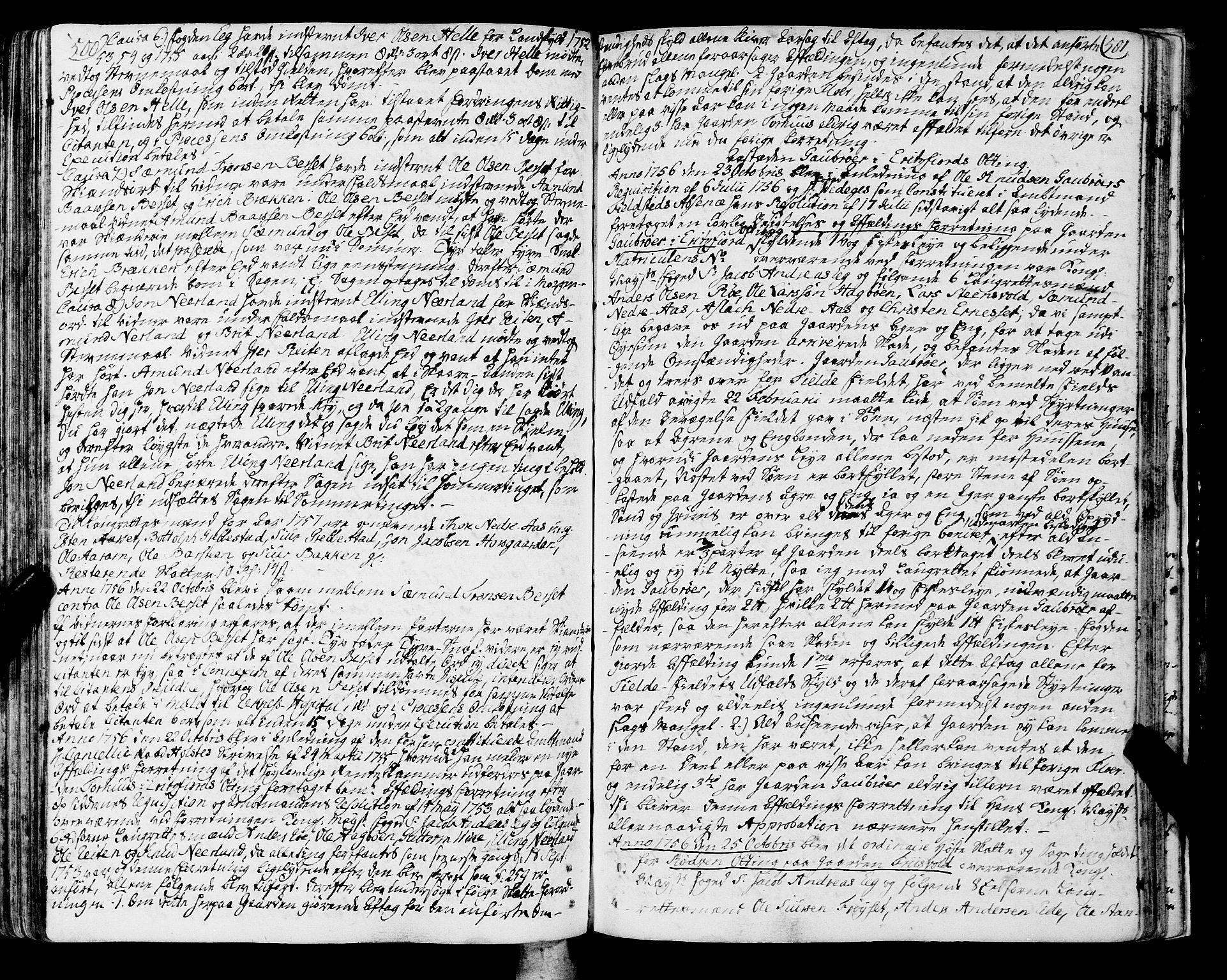 SAT, Romsdal sorenskriveri, 1/1A/L0013: Tingbok, 1749-1757, s. 500-501