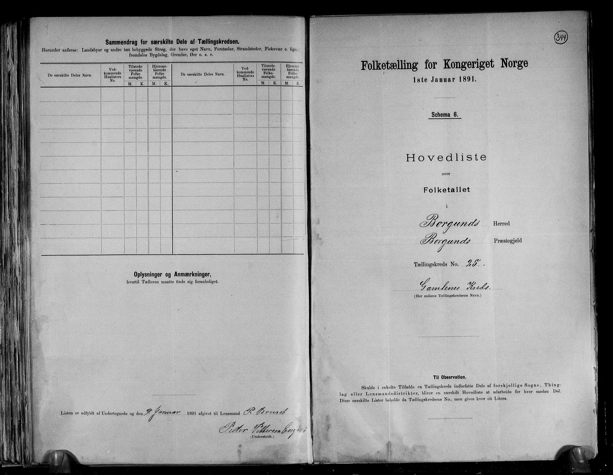 RA, Folketelling 1891 for 1531 Borgund herred, 1891, s. 55