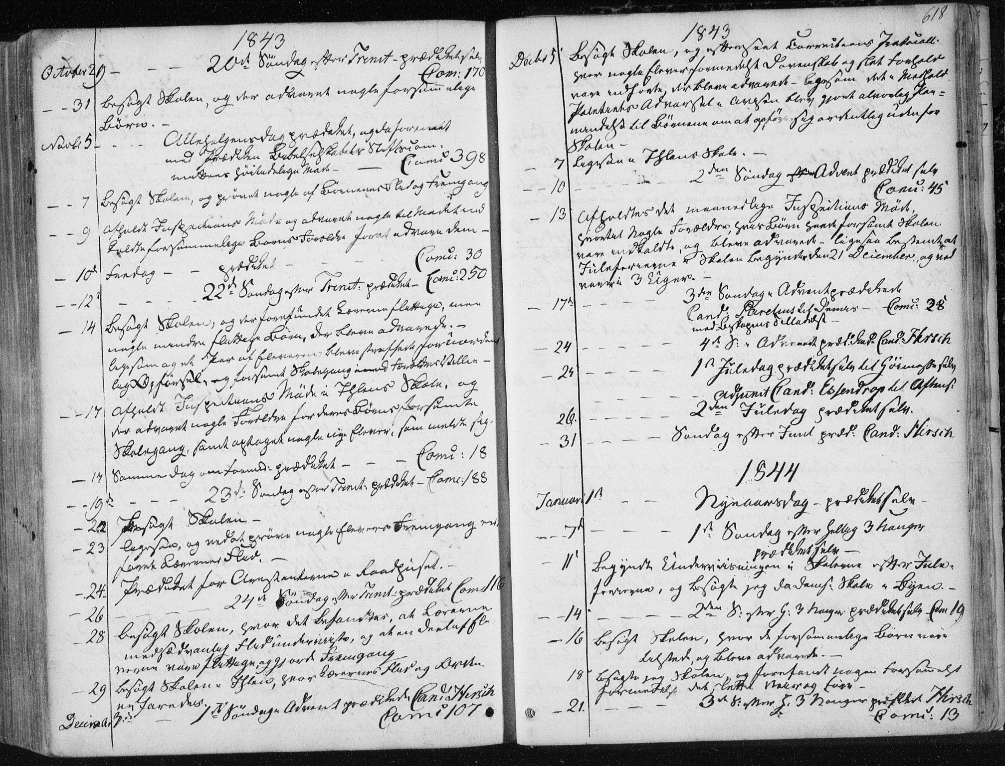 SAT, Ministerialprotokoller, klokkerbøker og fødselsregistre - Sør-Trøndelag, 601/L0049: Ministerialbok nr. 601A17, 1839-1847, s. 618