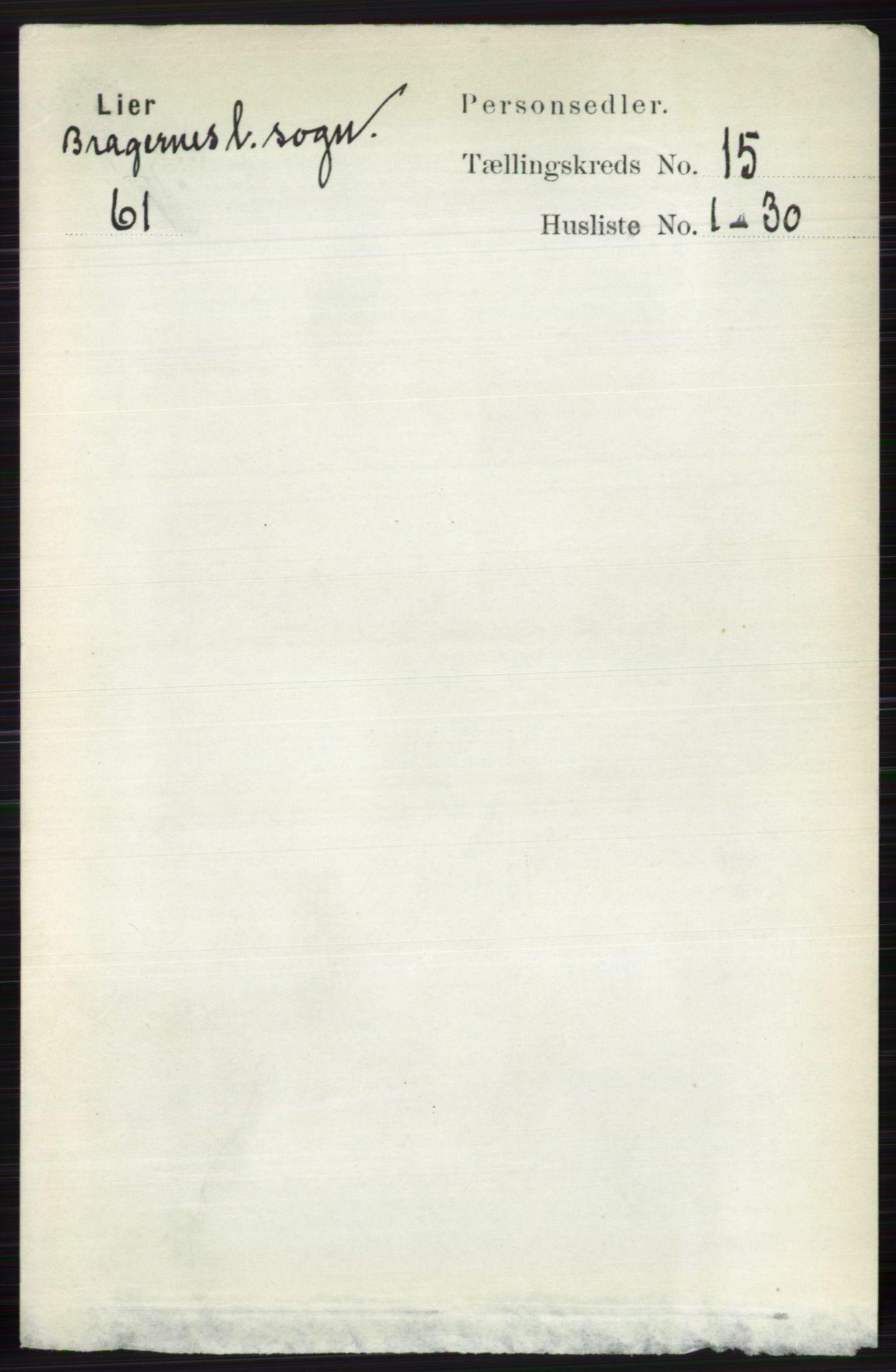RA, Folketelling 1891 for 0626 Lier herred, 1891, s. 8709