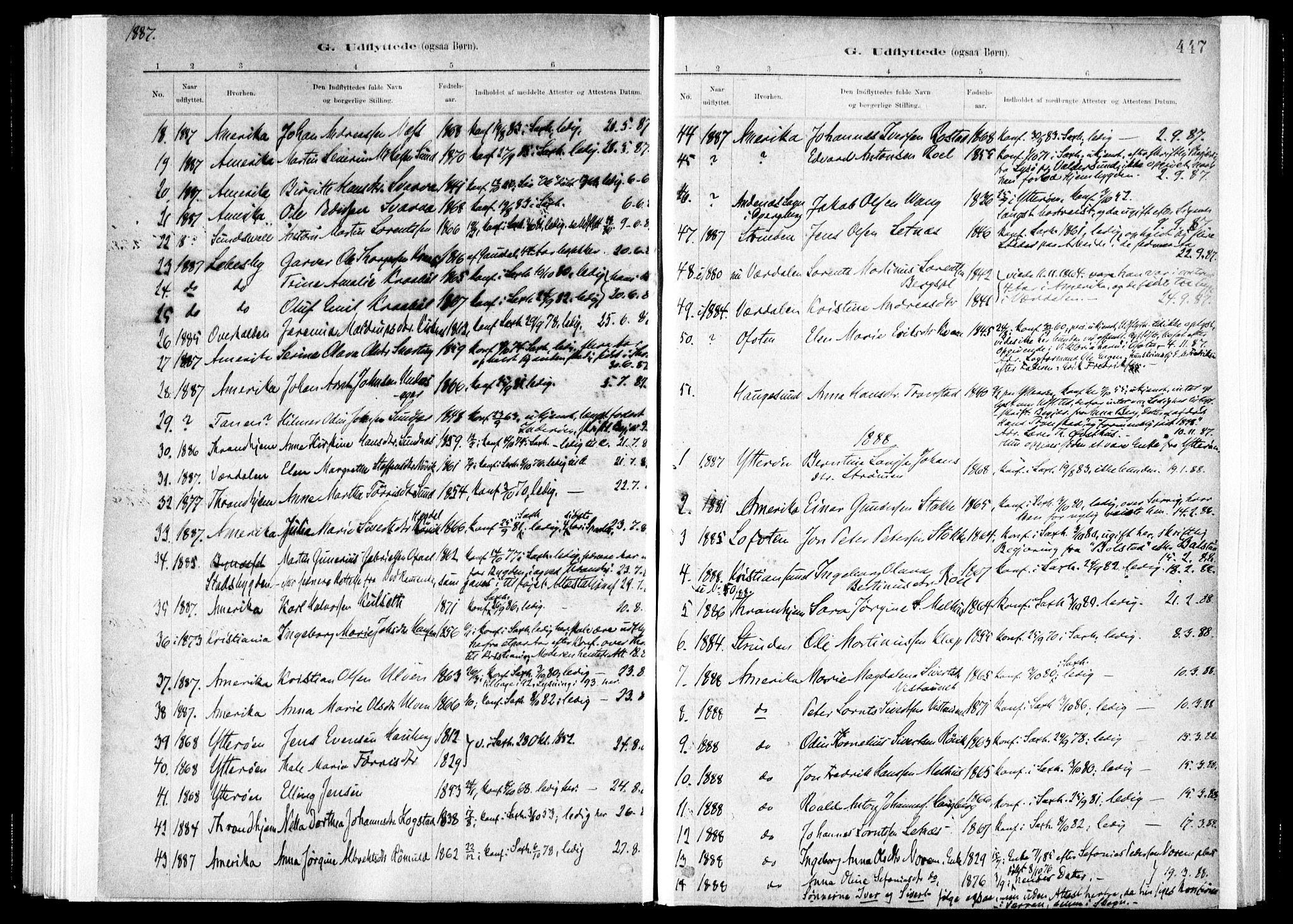 SAT, Ministerialprotokoller, klokkerbøker og fødselsregistre - Nord-Trøndelag, 730/L0285: Ministerialbok nr. 730A10, 1879-1914, s. 447