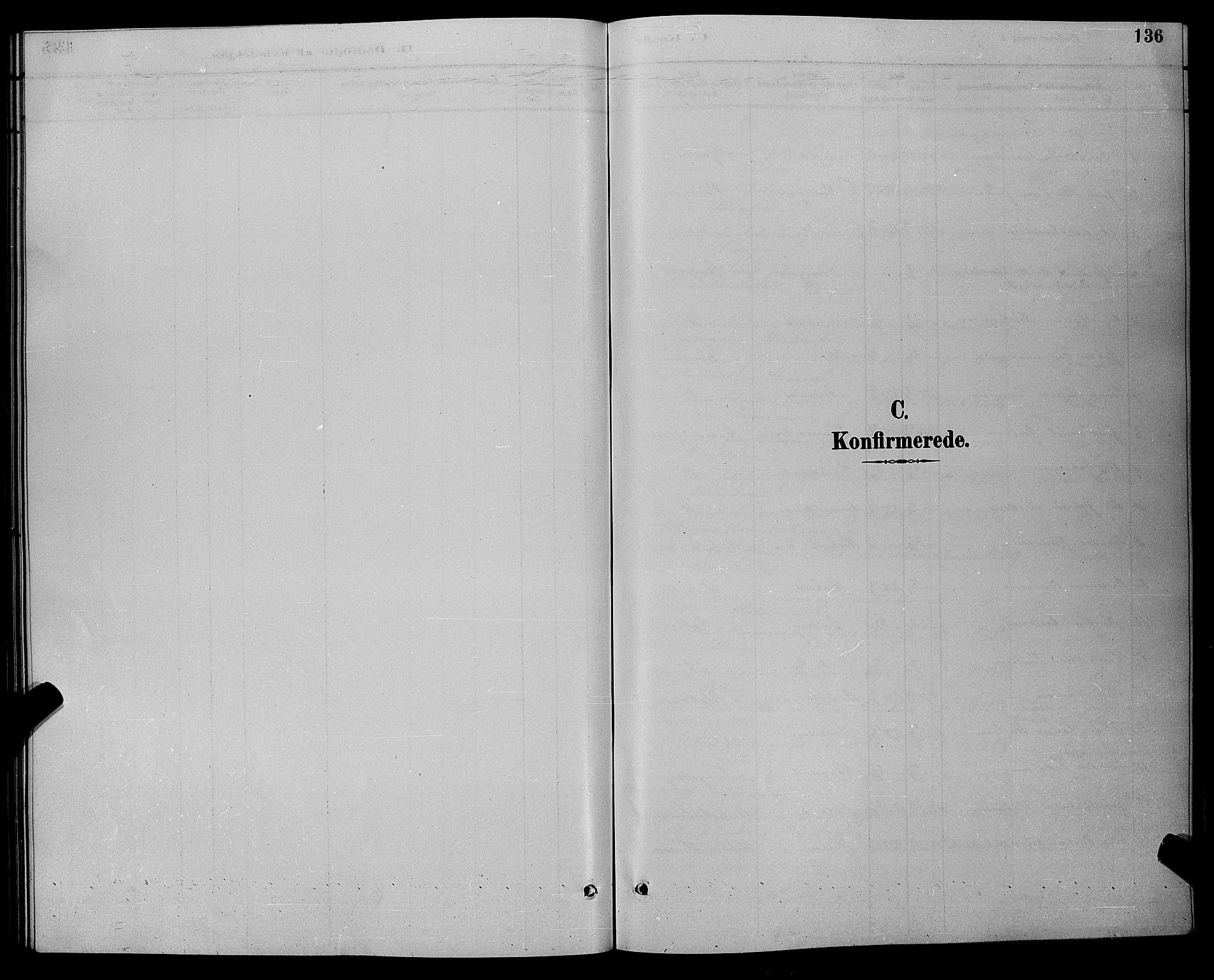 SAK, Øyestad sokneprestkontor, F/Fb/L0009: Klokkerbok nr. B 9, 1886-1896, s. 136