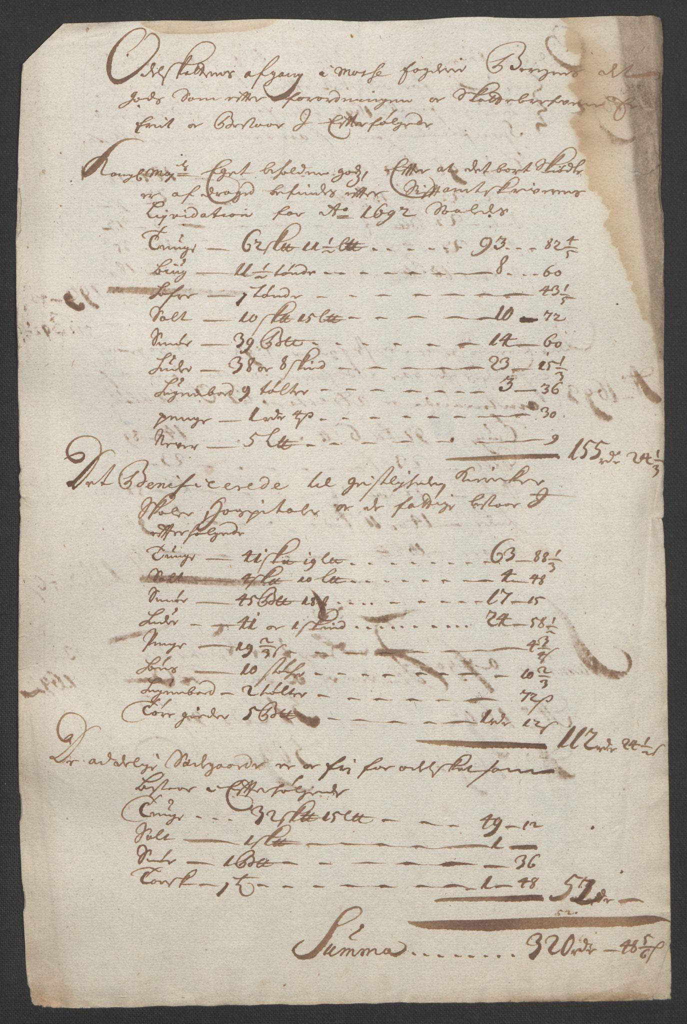 RA, Rentekammeret inntil 1814, Reviderte regnskaper, Fogderegnskap, R02/L0108: Fogderegnskap Moss og Verne kloster, 1692-1693, s. 103
