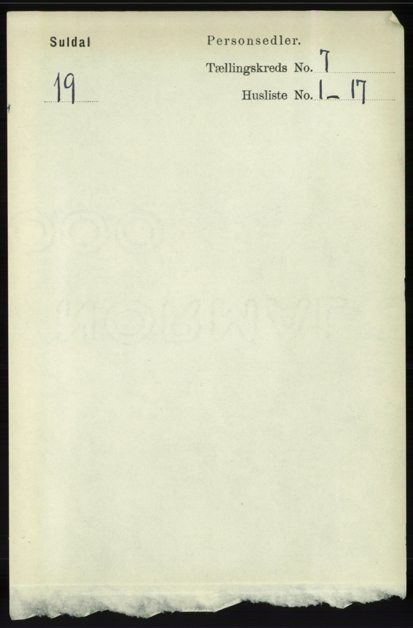 RA, Folketelling 1891 for 1134 Suldal herred, 1891, s. 1982