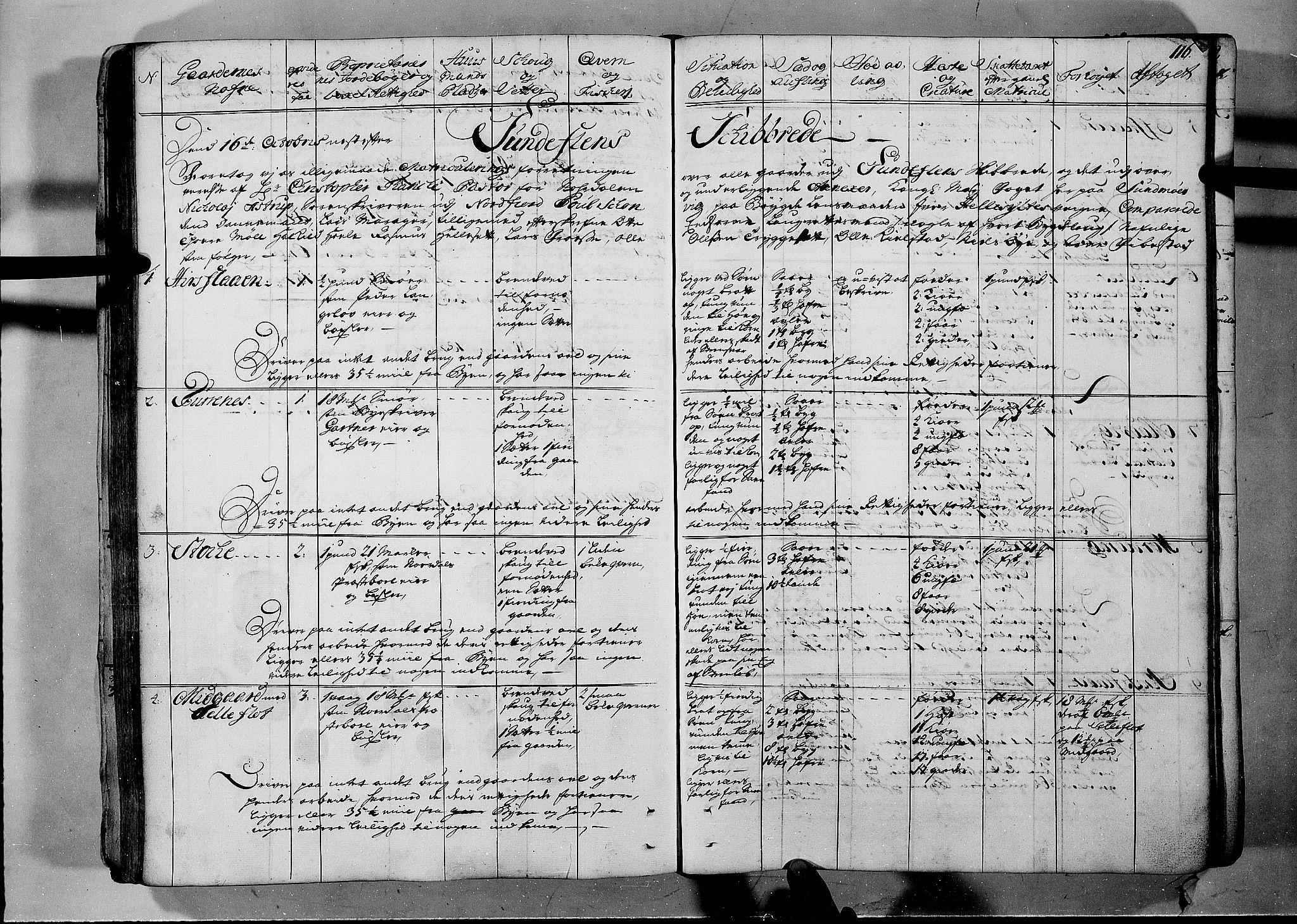 RA, Rentekammeret inntil 1814, Realistisk ordnet avdeling, N/Nb/Nbf/L0150: Sunnmøre eksaminasjonsprotokoll, 1724, s. 115b-116a