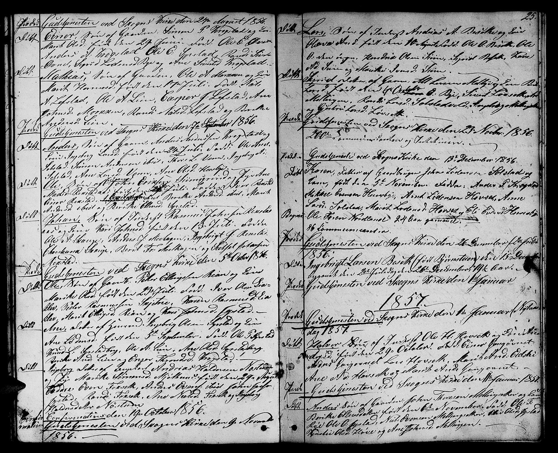 SAT, Ministerialprotokoller, klokkerbøker og fødselsregistre - Sør-Trøndelag, 667/L0797: Klokkerbok nr. 667C02, 1849-1867, s. 25