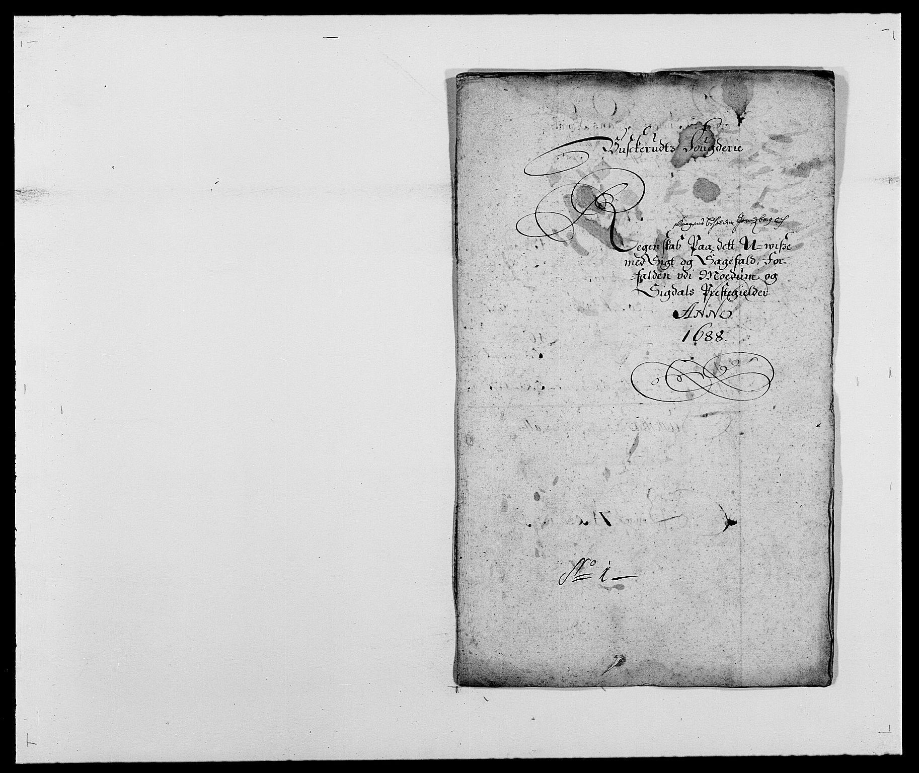RA, Rentekammeret inntil 1814, Reviderte regnskaper, Fogderegnskap, R25/L1679: Fogderegnskap Buskerud, 1687-1688, s. 256
