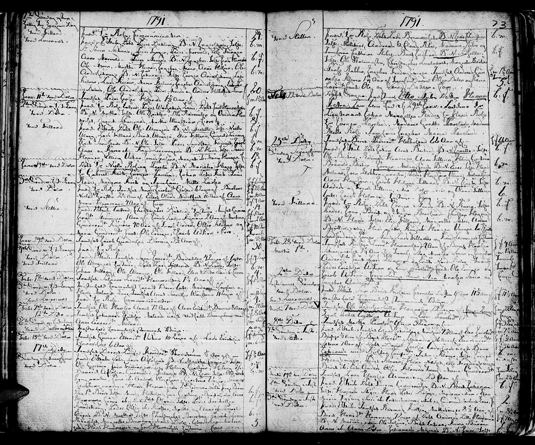 SAT, Ministerialprotokoller, klokkerbøker og fødselsregistre - Sør-Trøndelag, 634/L0526: Ministerialbok nr. 634A02, 1775-1818, s. 73