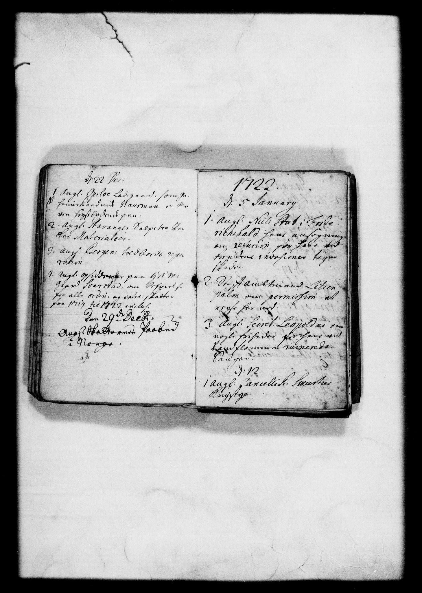 RA, Rentekammeret, Kammerkanselliet, G/Gf/Gfb/L0001: Register til norske relasjons- og resolusjonsprotokoller (merket RK 52.96), 1720-1749, s. 10