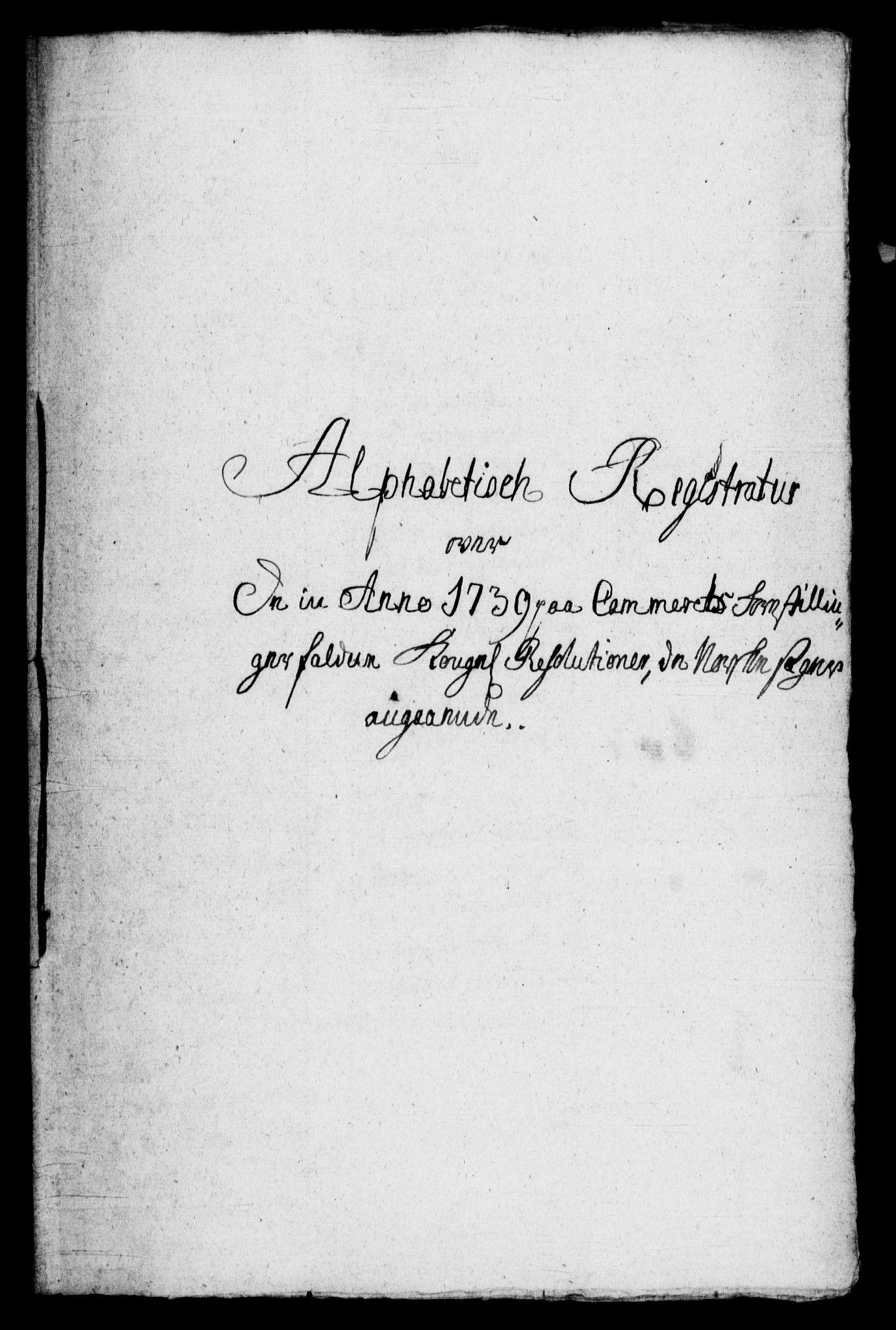 RA, Rentekammeret, Kammerkanselliet, G/Gf/Gfb/L0001: Register til norske relasjons- og resolusjonsprotokoller (merket RK 52.96), 1720-1749, s. 400