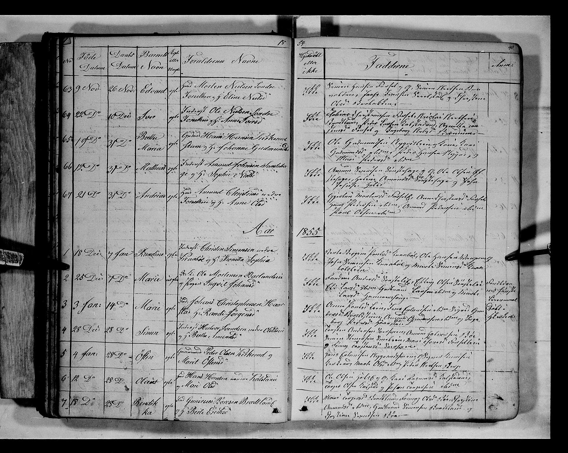 SAH, Gausdal prestekontor, Klokkerbok nr. 5, 1846-1867, s. 40