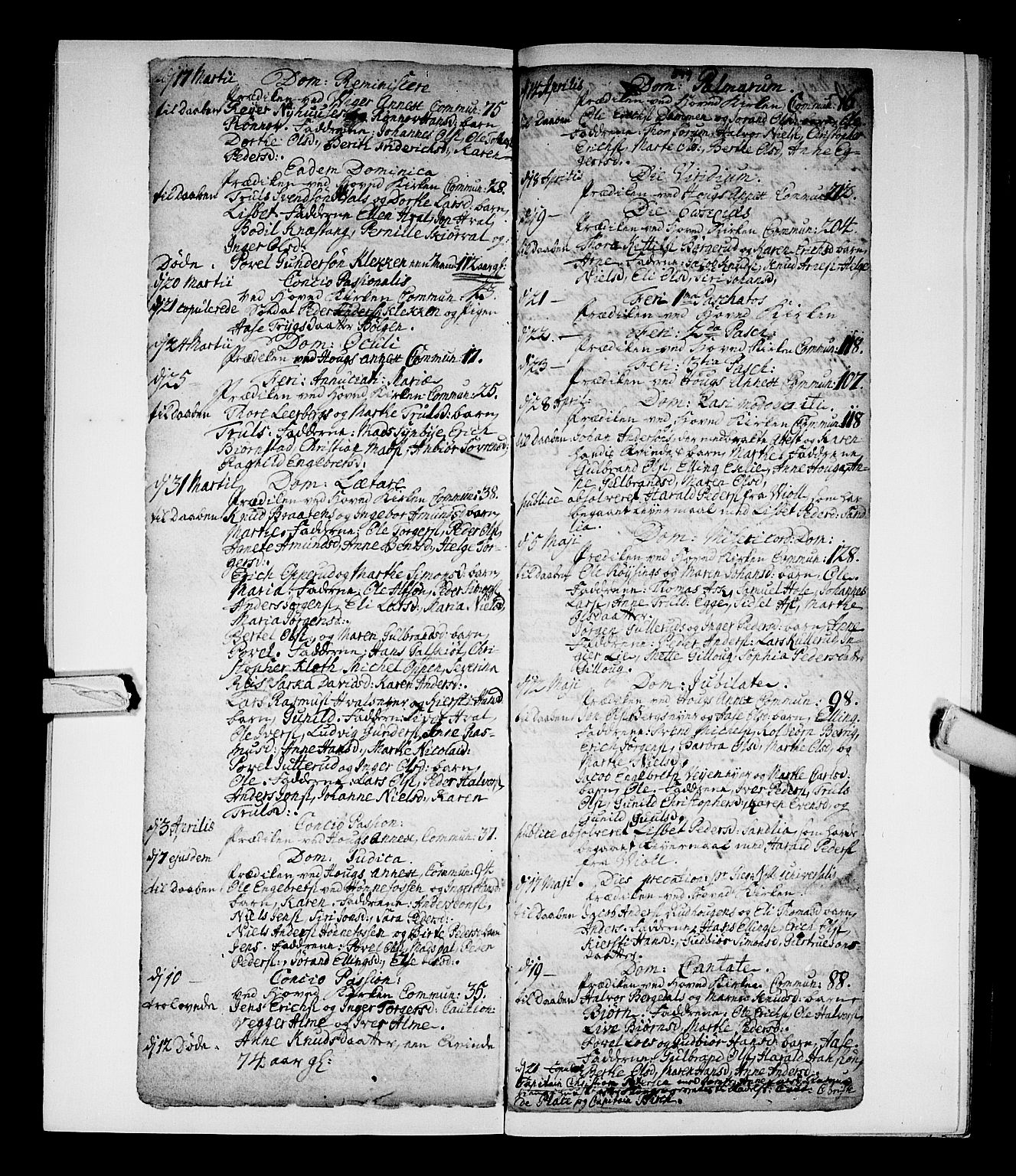 SAKO, Norderhov kirkebøker, F/Fa/L0002b: Ministerialbok nr. 2B, 1726-1739, s. 548-549