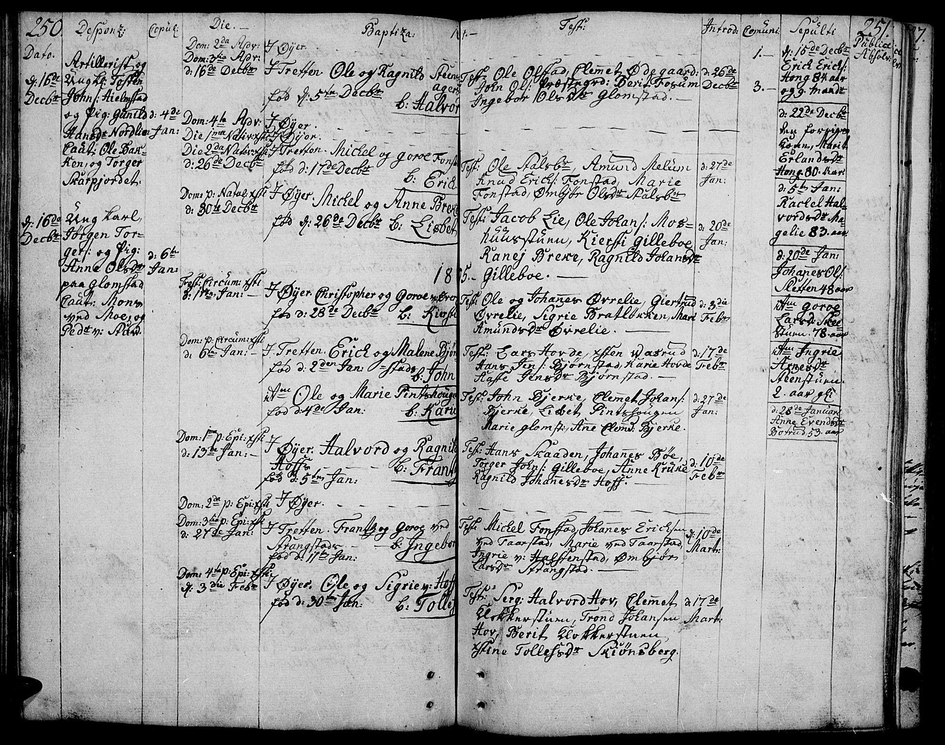SAH, Øyer prestekontor, Ministerialbok nr. 3, 1784-1824, s. 250-251