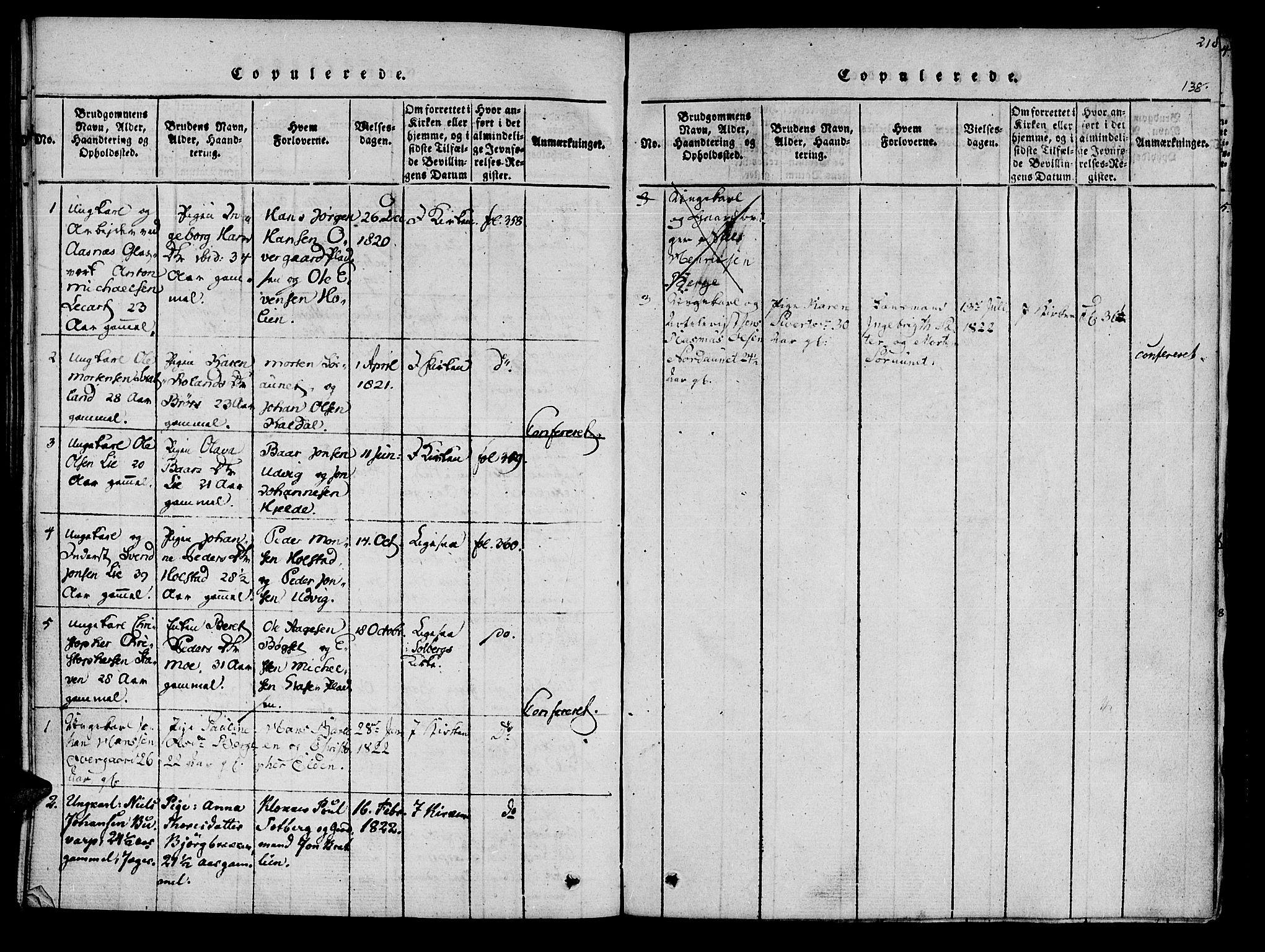 SAT, Ministerialprotokoller, klokkerbøker og fødselsregistre - Nord-Trøndelag, 741/L0387: Ministerialbok nr. 741A03 /3, 1817-1822, s. 138