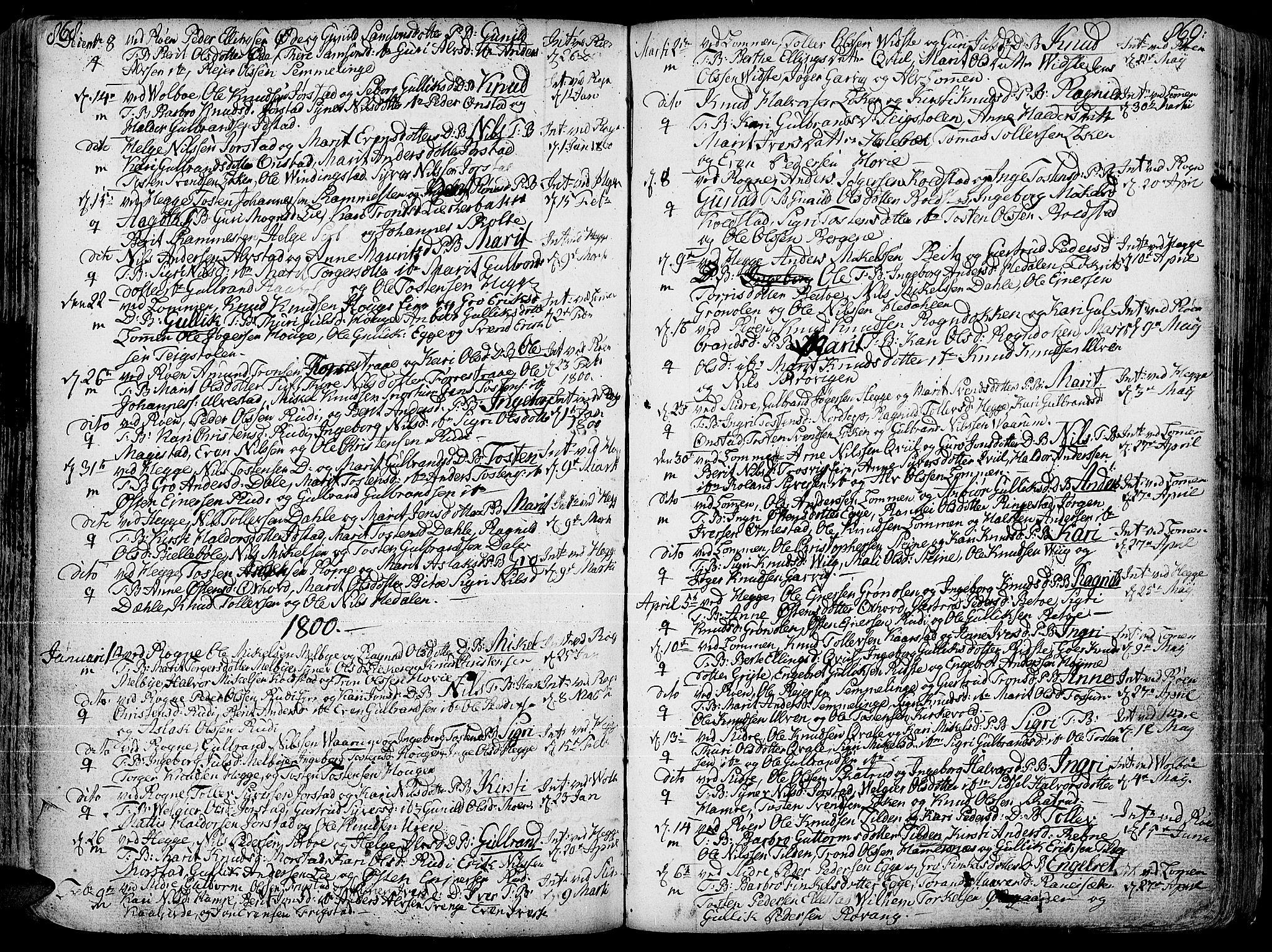 SAH, Slidre prestekontor, Ministerialbok nr. 1, 1724-1814, s. 868-869