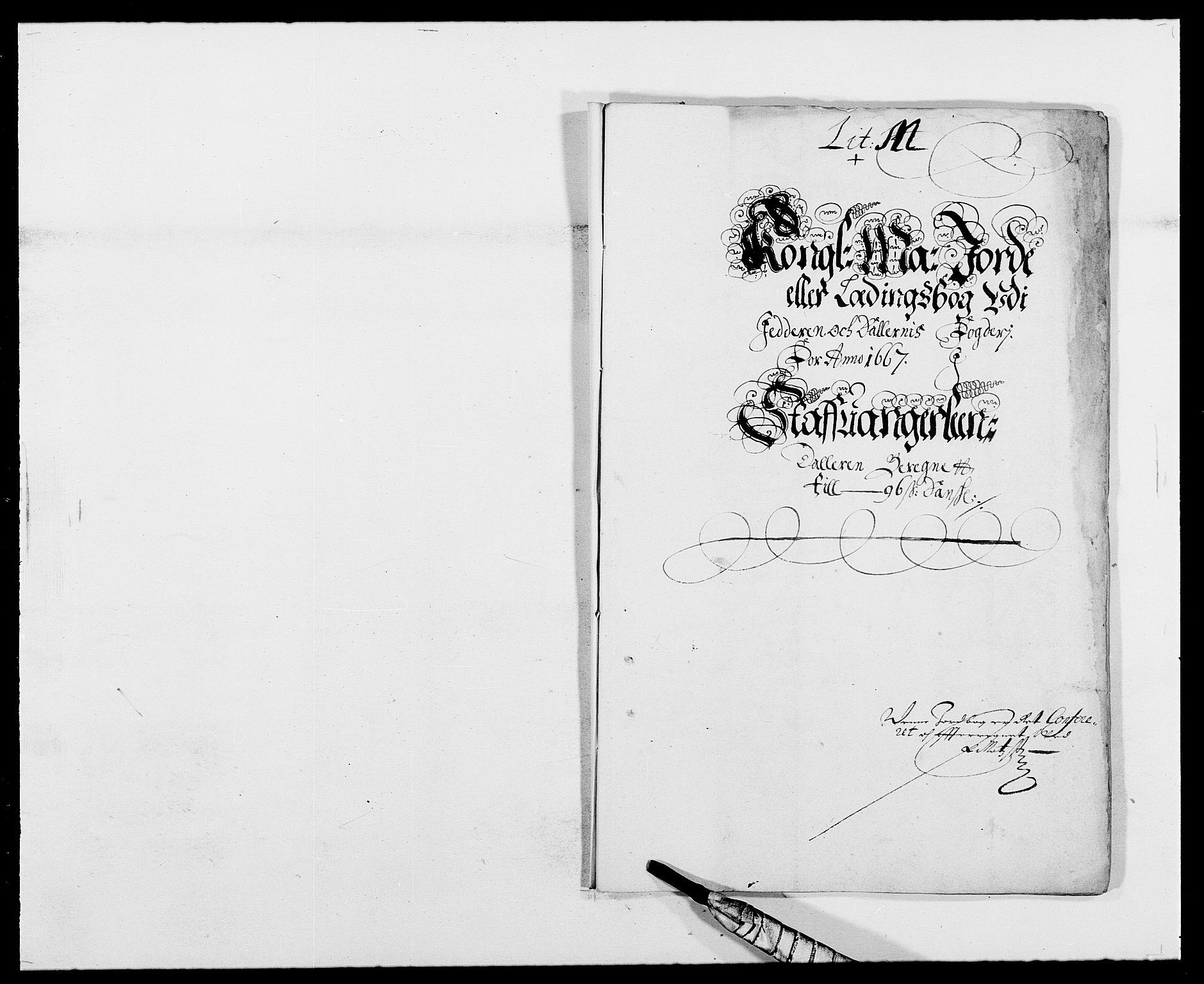 RA, Rentekammeret inntil 1814, Reviderte regnskaper, Fogderegnskap, R46/L2710: Fogderegnskap Jæren og Dalane, 1667, s. 11