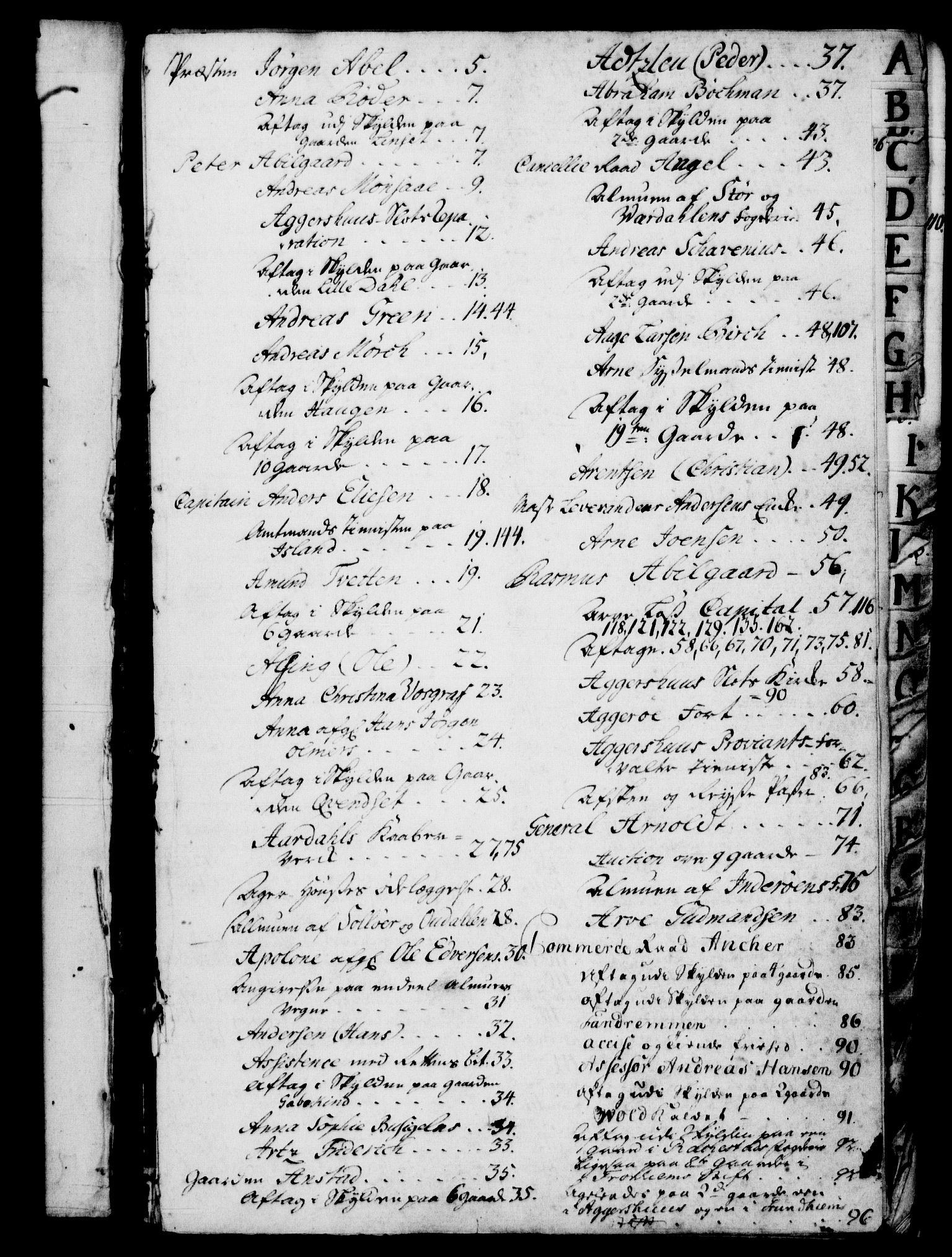 RA, Rentekammeret, Kammerkanselliet, G/Gf/Gfb/L0005: Register til norske relasjons- og resolusjonsprotokoller (merket RK 52.100), 1744-1754, s. upaginert