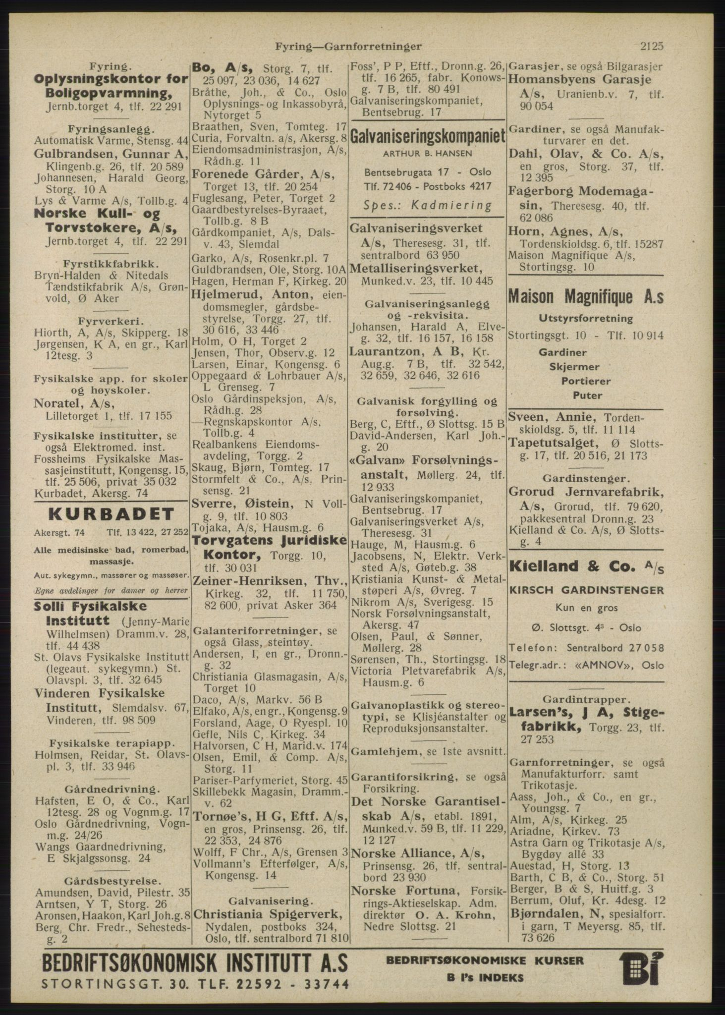 RA, Oslo adressebok (publikasjon)*, 1946, s. 2125