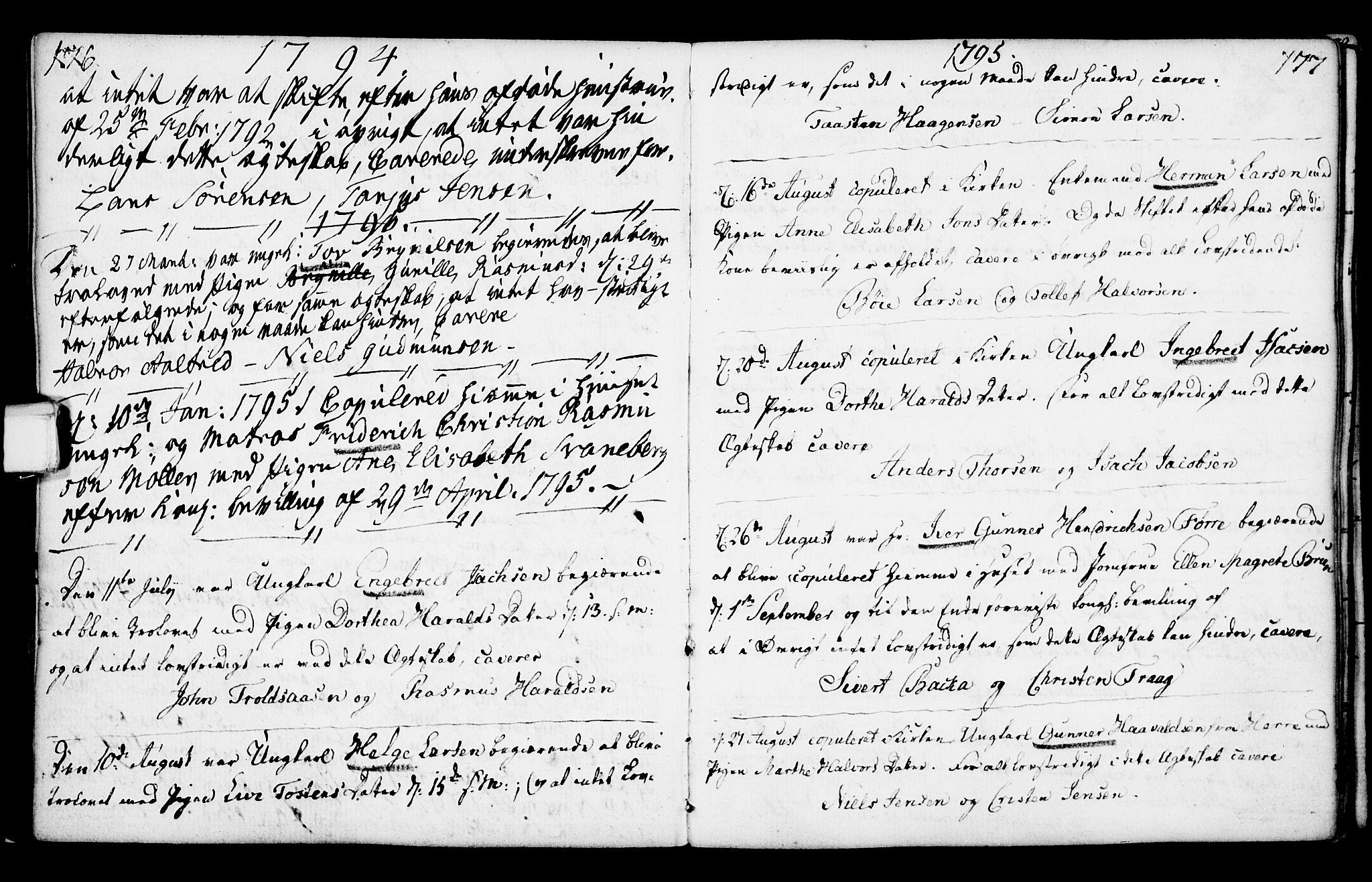 SAKO, Porsgrunn kirkebøker , F/Fa/L0003: Ministerialbok nr. 3, 1764-1814, s. 176-177