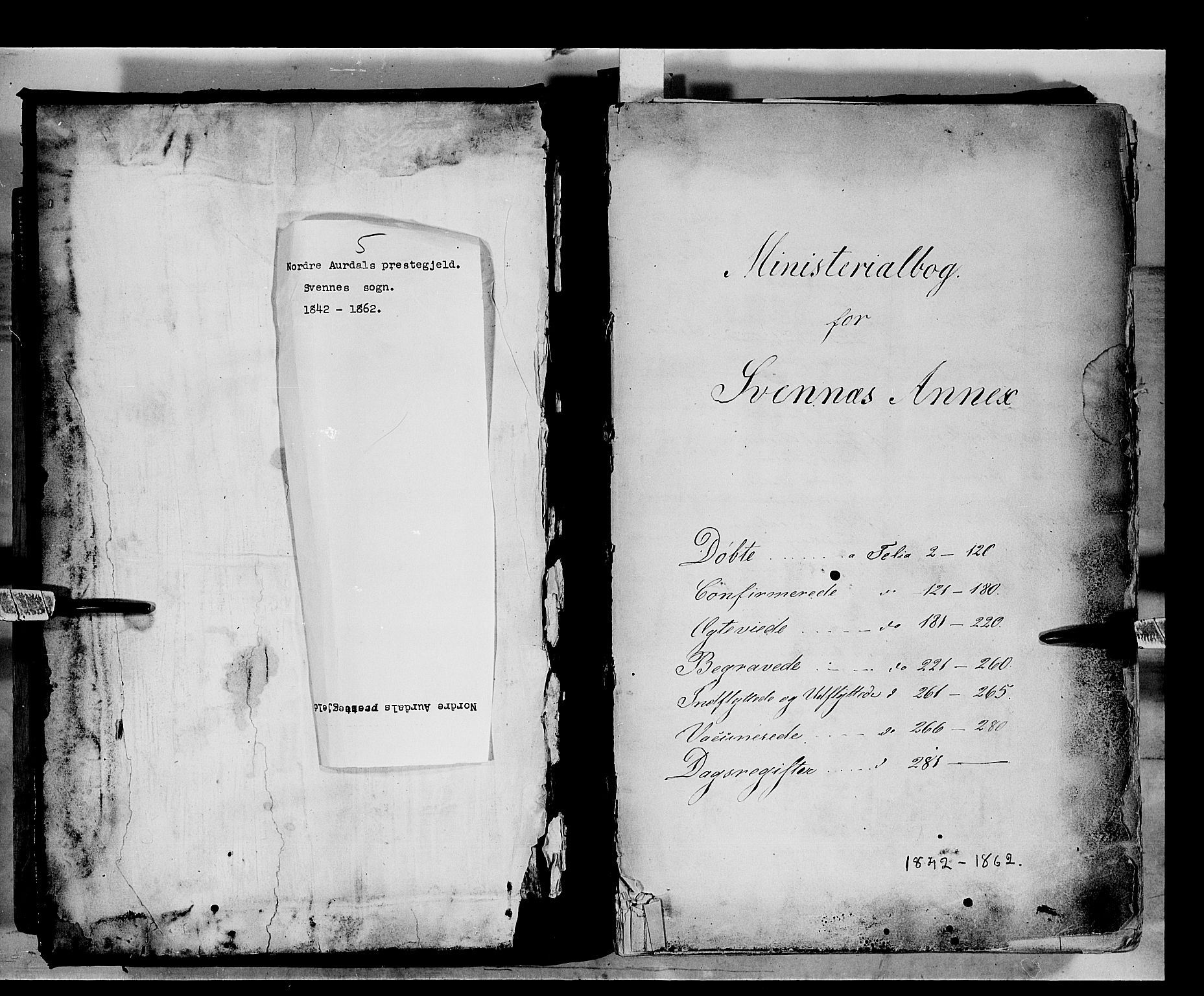 SAH, Nord-Aurdal prestekontor, Ministerialbok nr. 5, 1842-1863