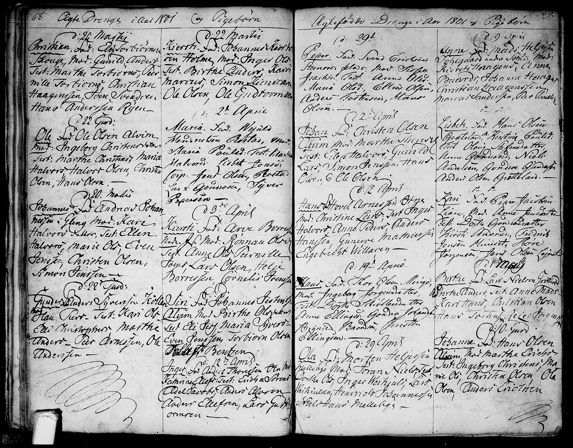SAO, Tune prestekontor Kirkebøker, F/Fa/L0004: Ministerialbok nr. 4, 1797-1815, s. 68-69