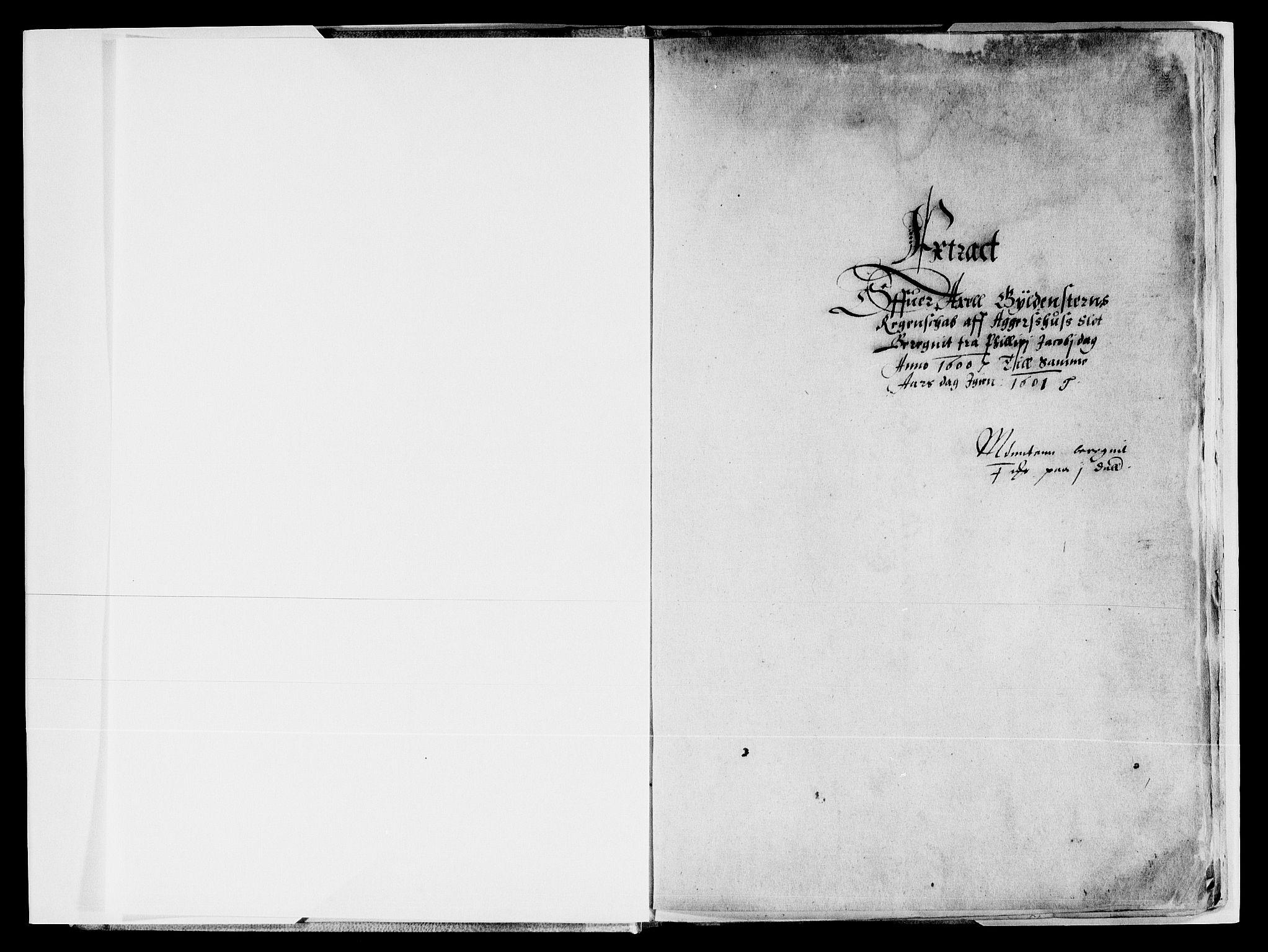 RA, Rentekammeret inntil 1814, Reviderte regnskaper, Lensregnskaper, R/Rb/Rba/L0011: Akershus len, 1600-1601