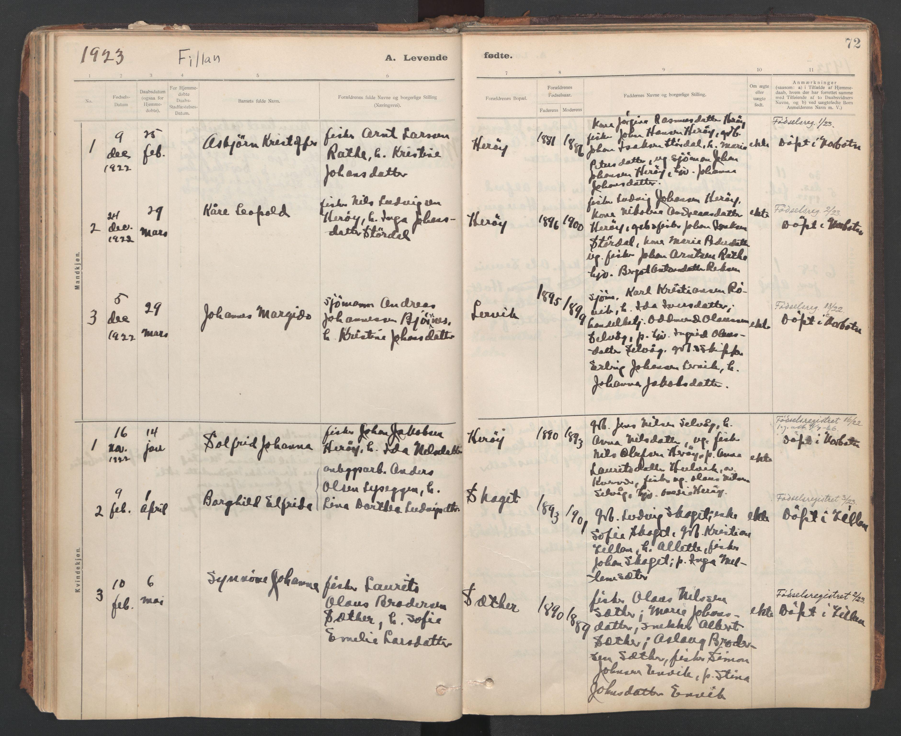 SAT, Ministerialprotokoller, klokkerbøker og fødselsregistre - Sør-Trøndelag, 637/L0559: Ministerialbok nr. 637A02, 1899-1923, s. 72