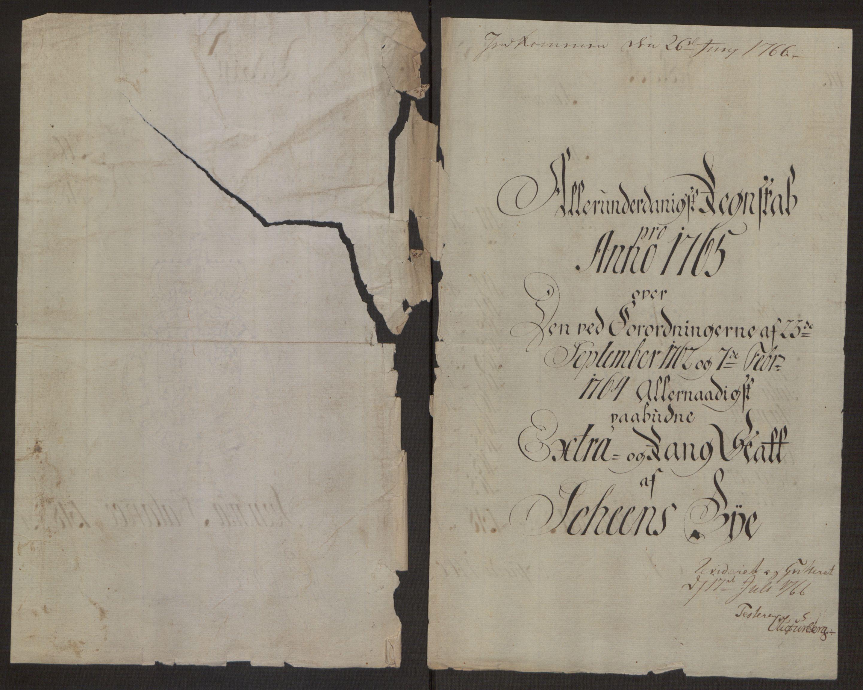 RA, Rentekammeret inntil 1814, Reviderte regnskaper, Byregnskaper, R/Rj/L0198: [J4] Kontribusjonsregnskap, 1762-1768, s. 318