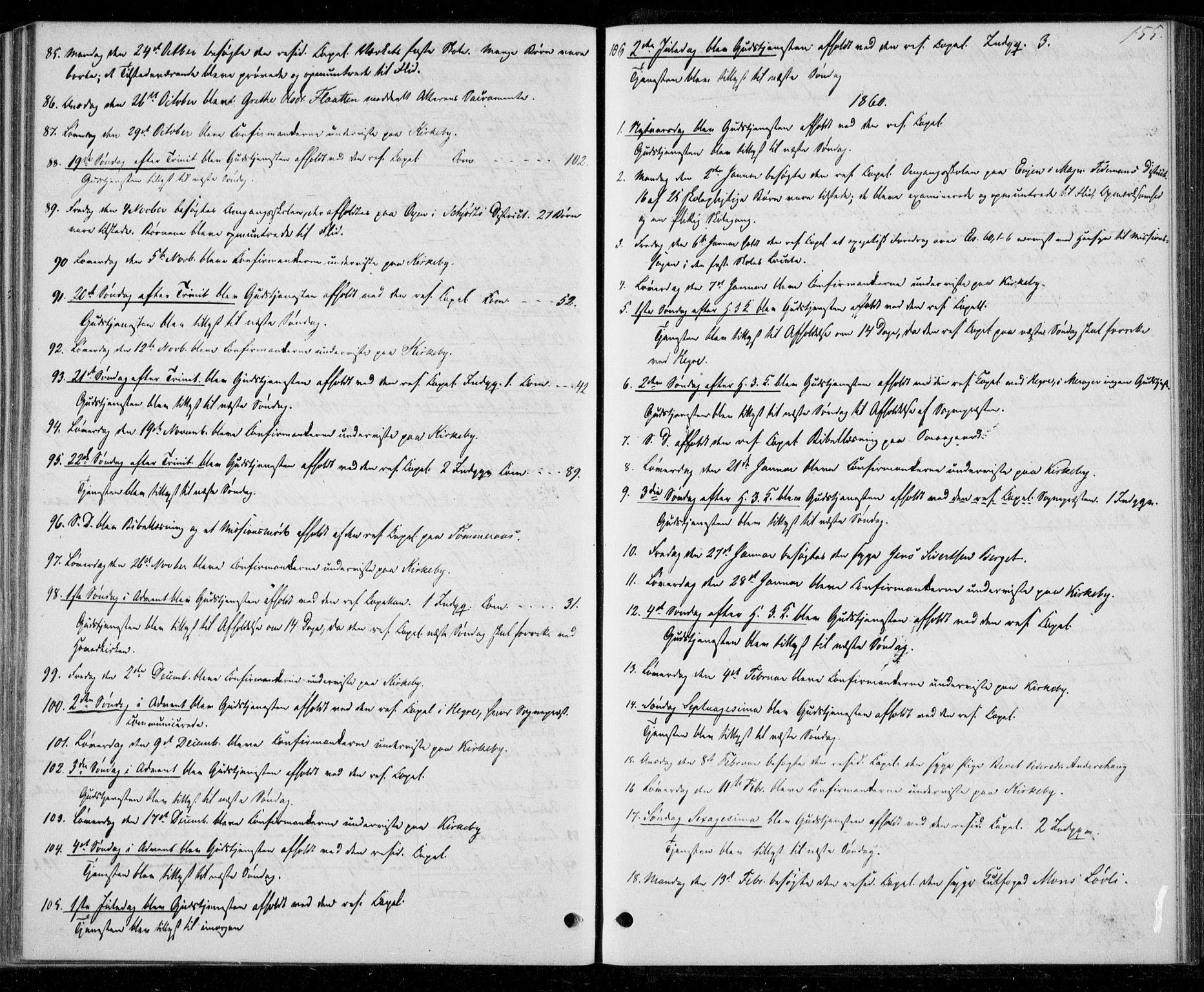 SAT, Ministerialprotokoller, klokkerbøker og fødselsregistre - Nord-Trøndelag, 706/L0040: Ministerialbok nr. 706A01, 1850-1861, s. 155