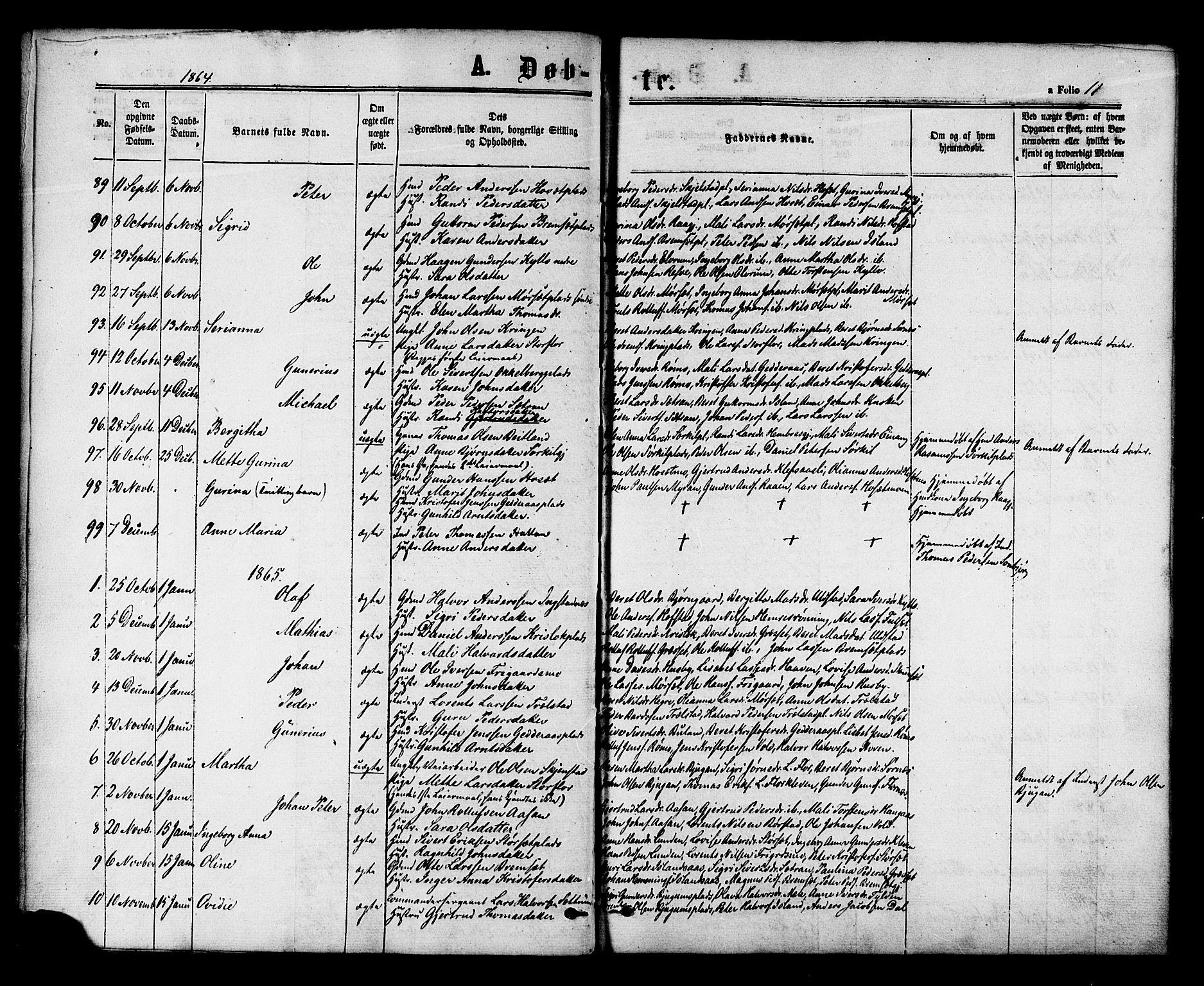 SAT, Ministerialprotokoller, klokkerbøker og fødselsregistre - Nord-Trøndelag, 703/L0029: Ministerialbok nr. 703A02, 1863-1879, s. 11