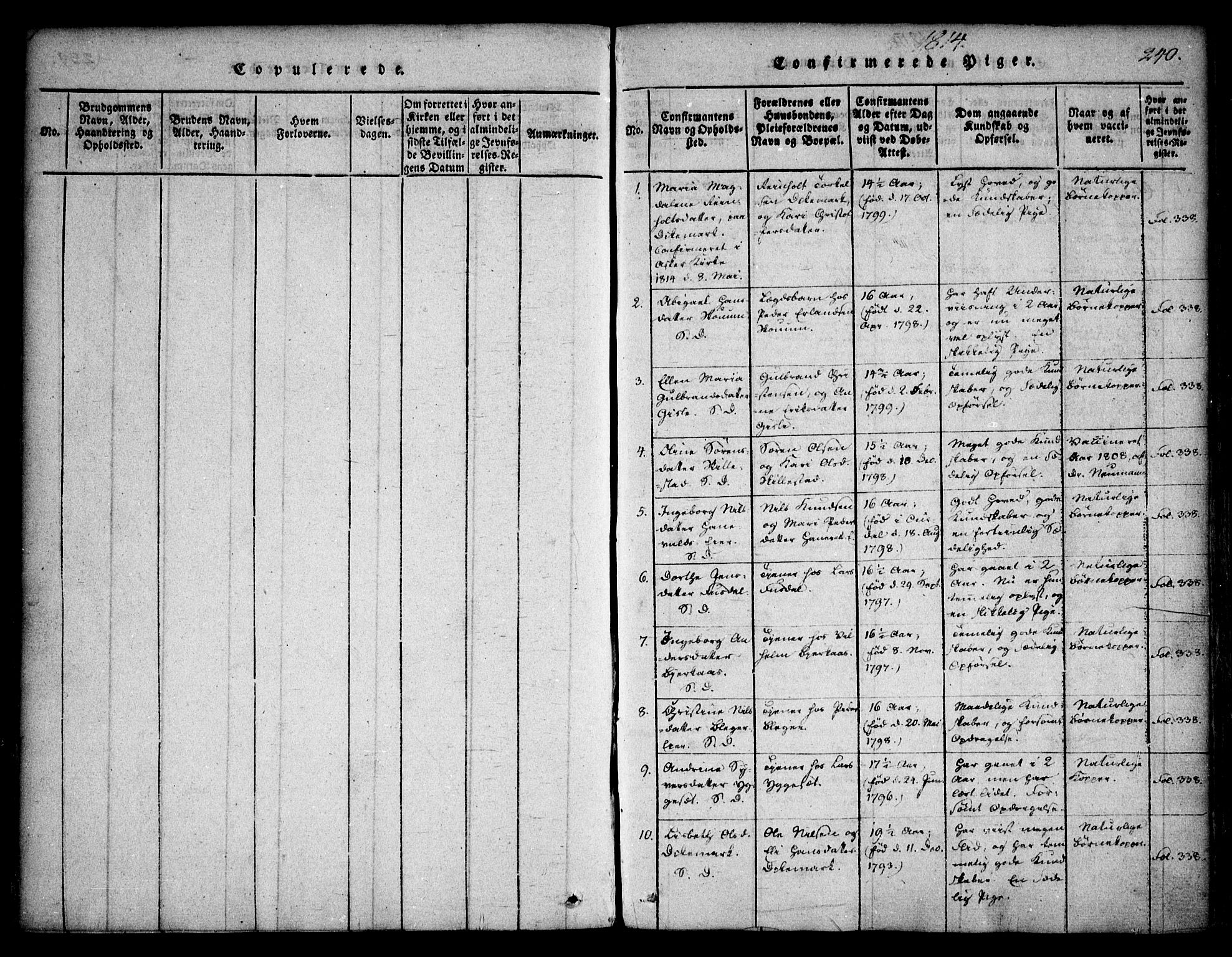 SAO, Asker prestekontor Kirkebøker, F/Fa/L0006: Ministerialbok nr. I 6, 1814-1824, s. 240